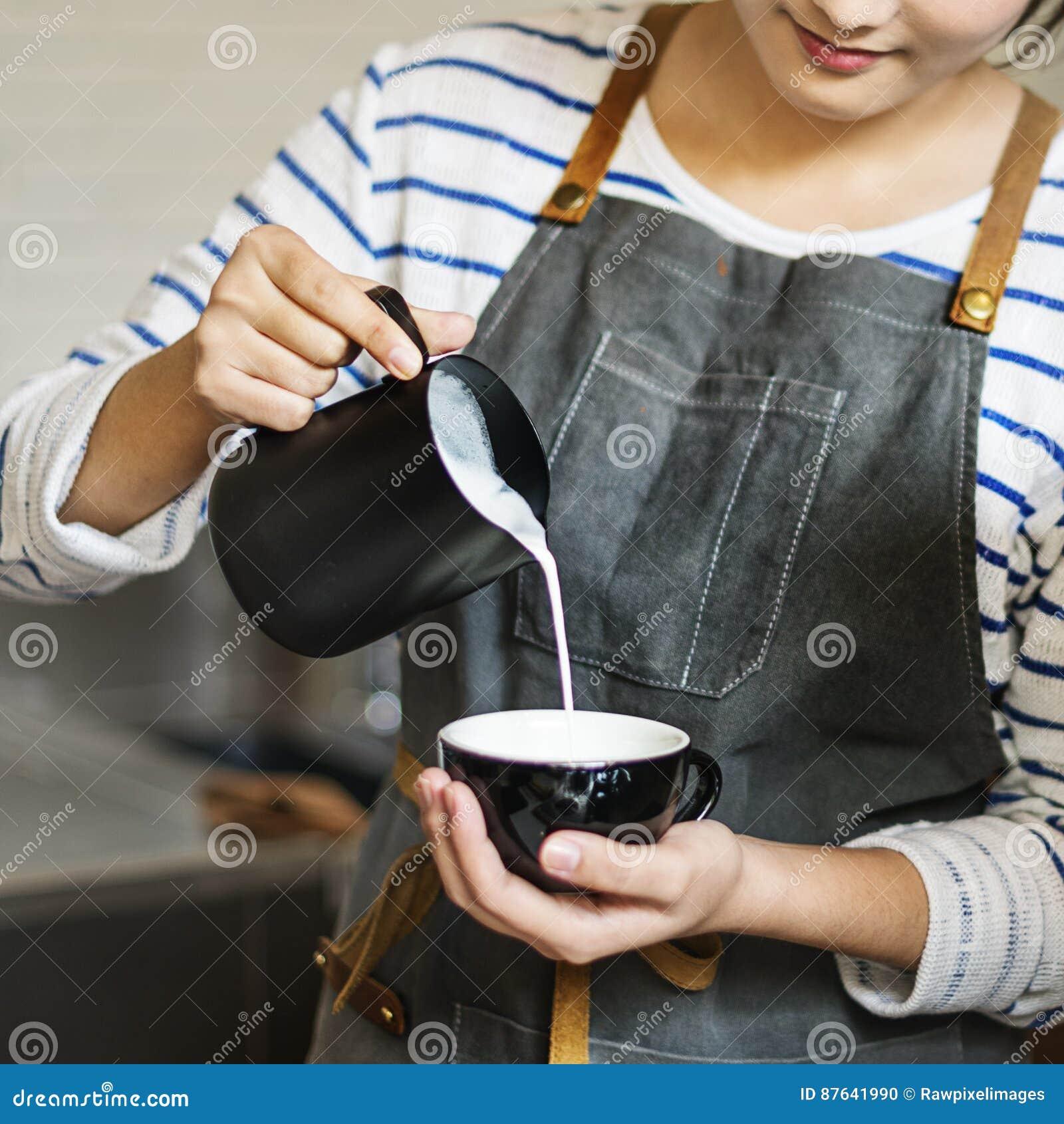 Bestellungs-Konzept Barista Prepare Coffee Working
