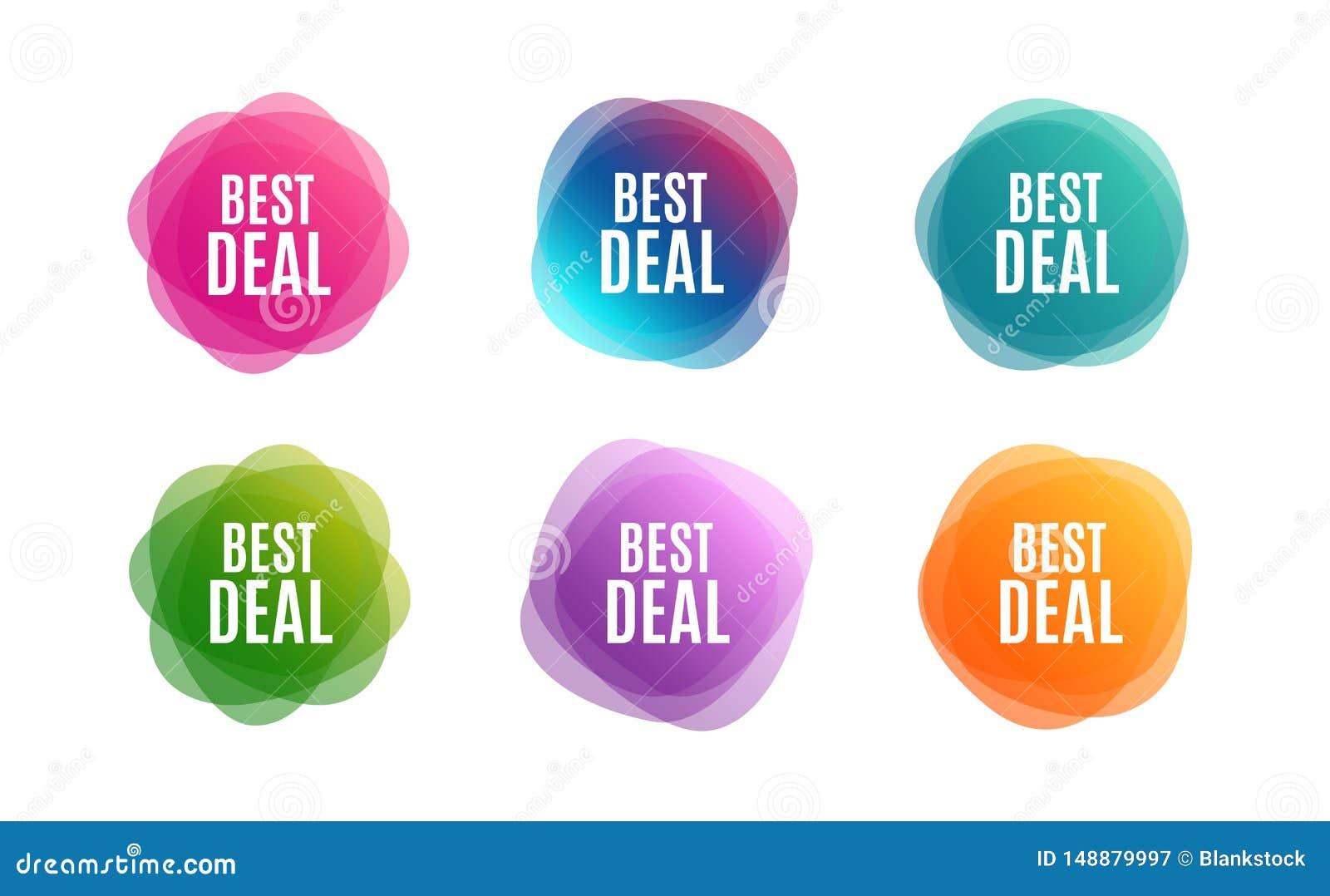 Bestes Abkommen Sonderangebot Verkaufszeichen Vektor