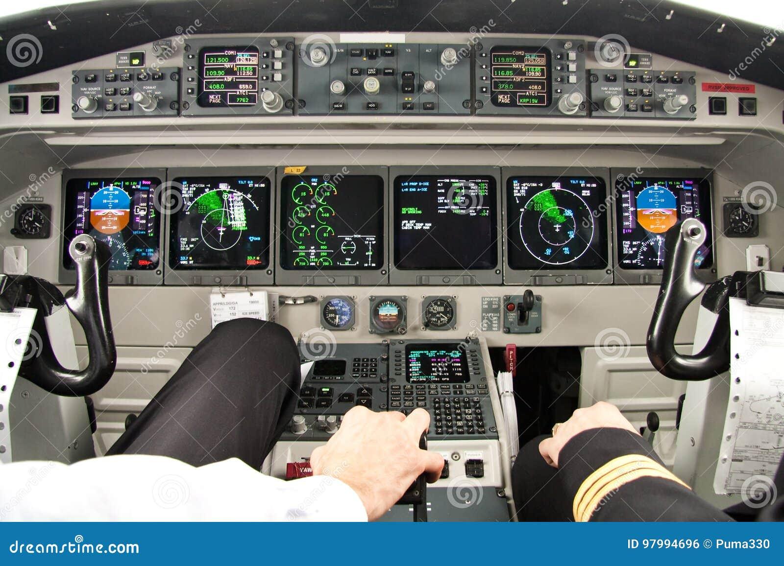 Bestes Büro des Flugzeugcockpits-d
