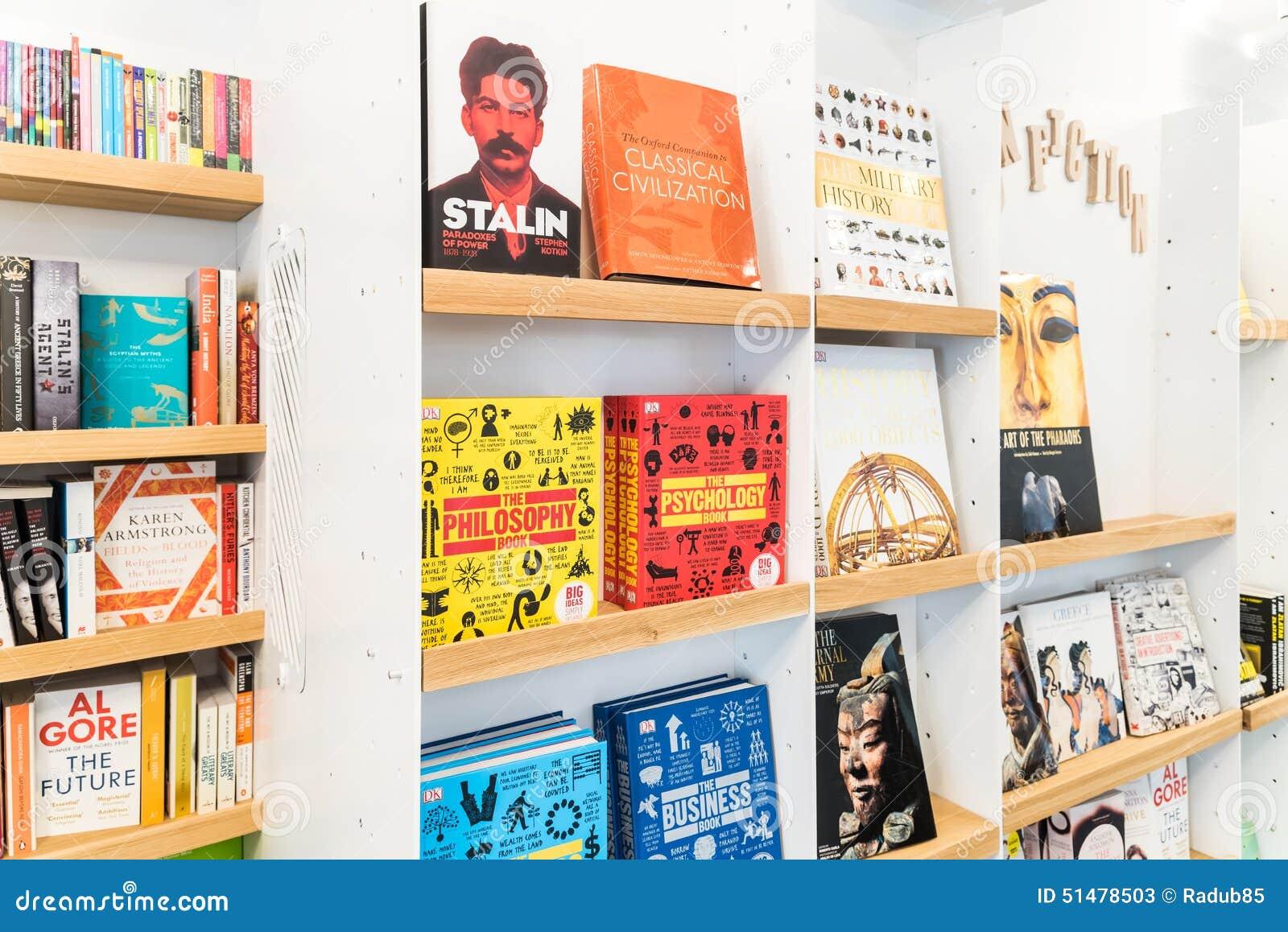 Bestseller Books For Sale On Library Shelf