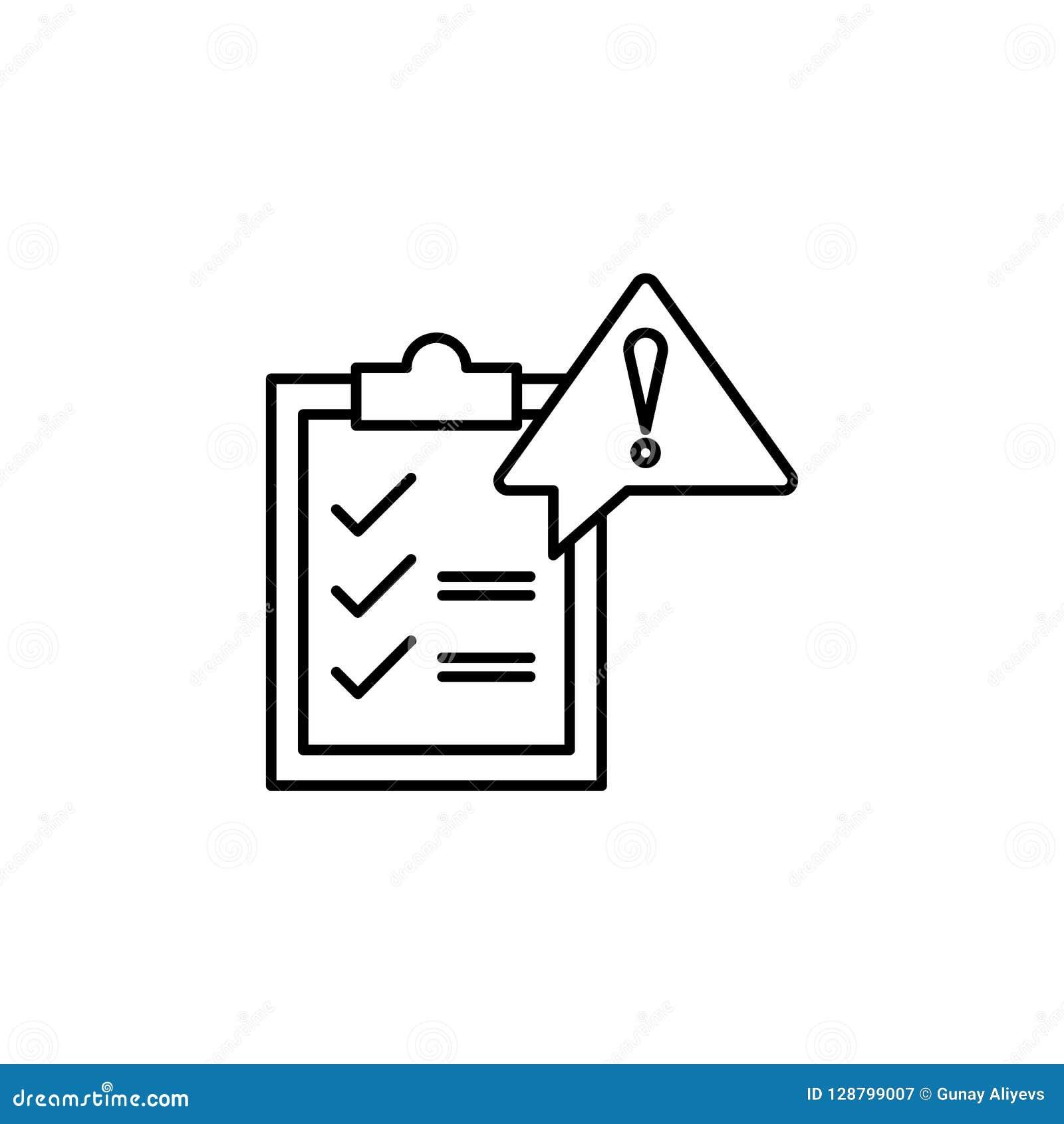 Bestuur, risicopictogram Element van het algemene pictogram van het gegevensproject voor mobiel concept en Web apps Het dunne lij