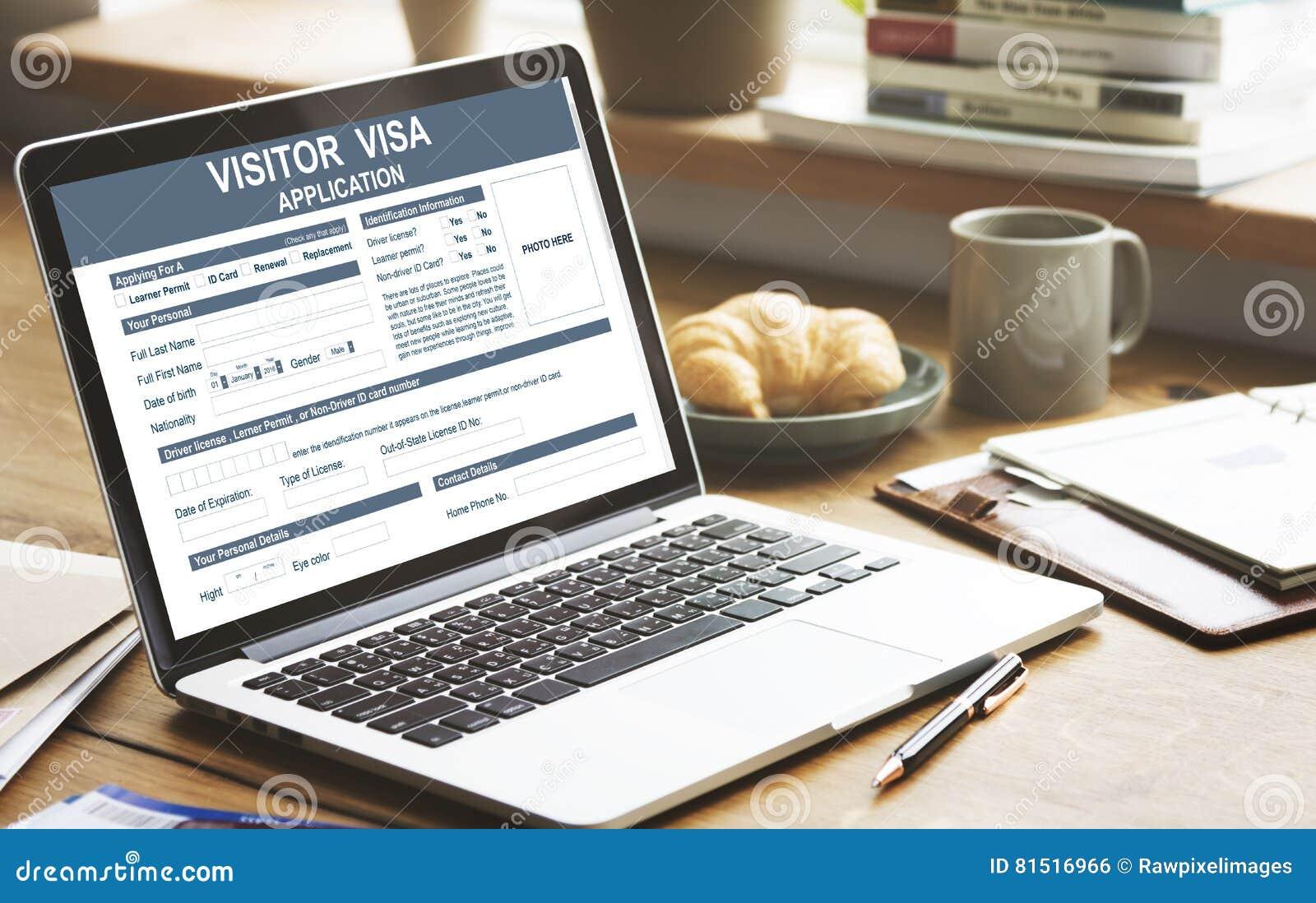 Besucher-Visumsantrag-Immigrations-Konzept