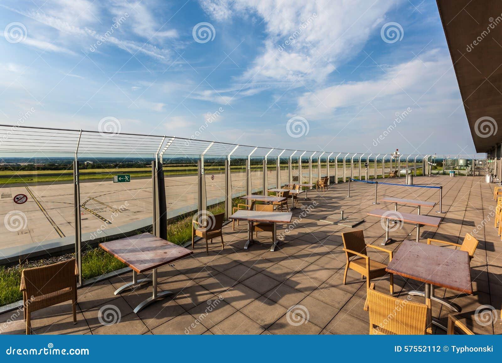 Besucherterrasse Des Dortmund Flughafens Deutschland Redaktionelles