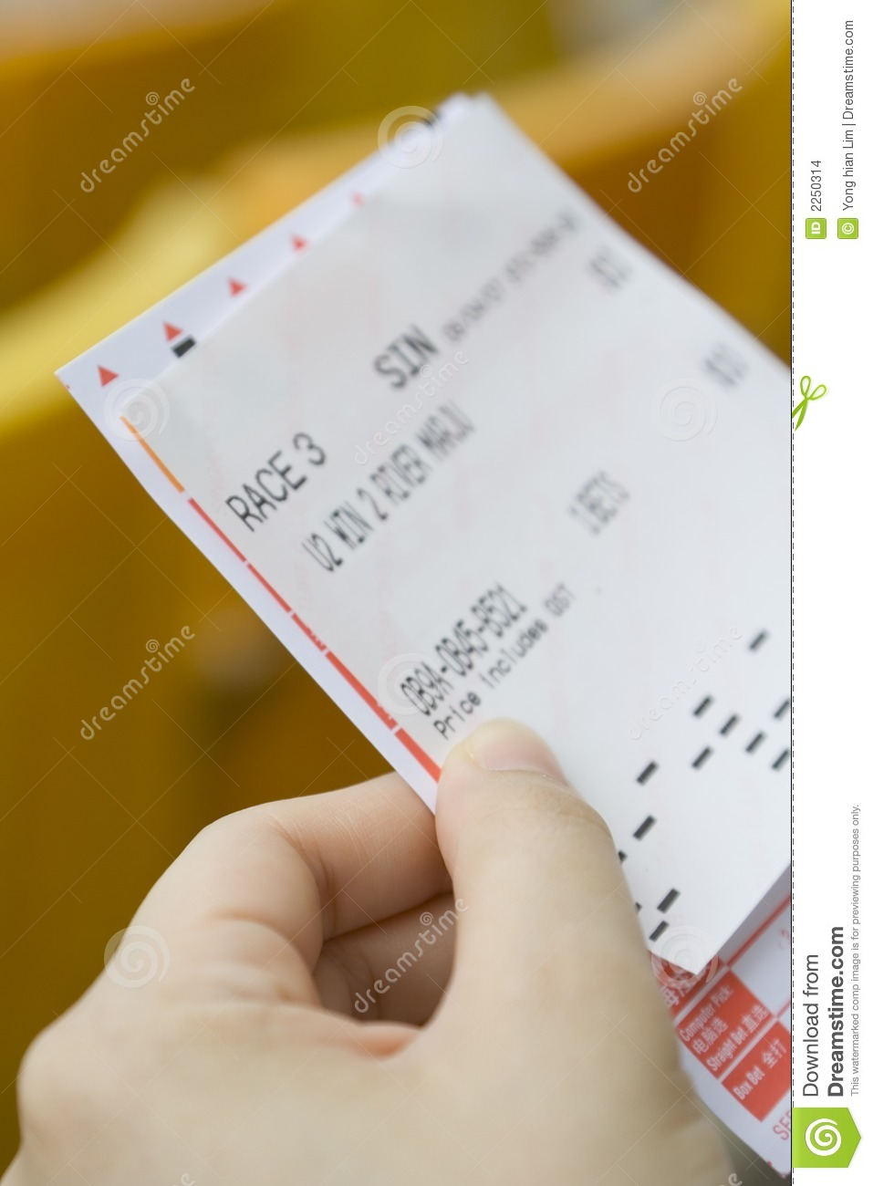 betting slip