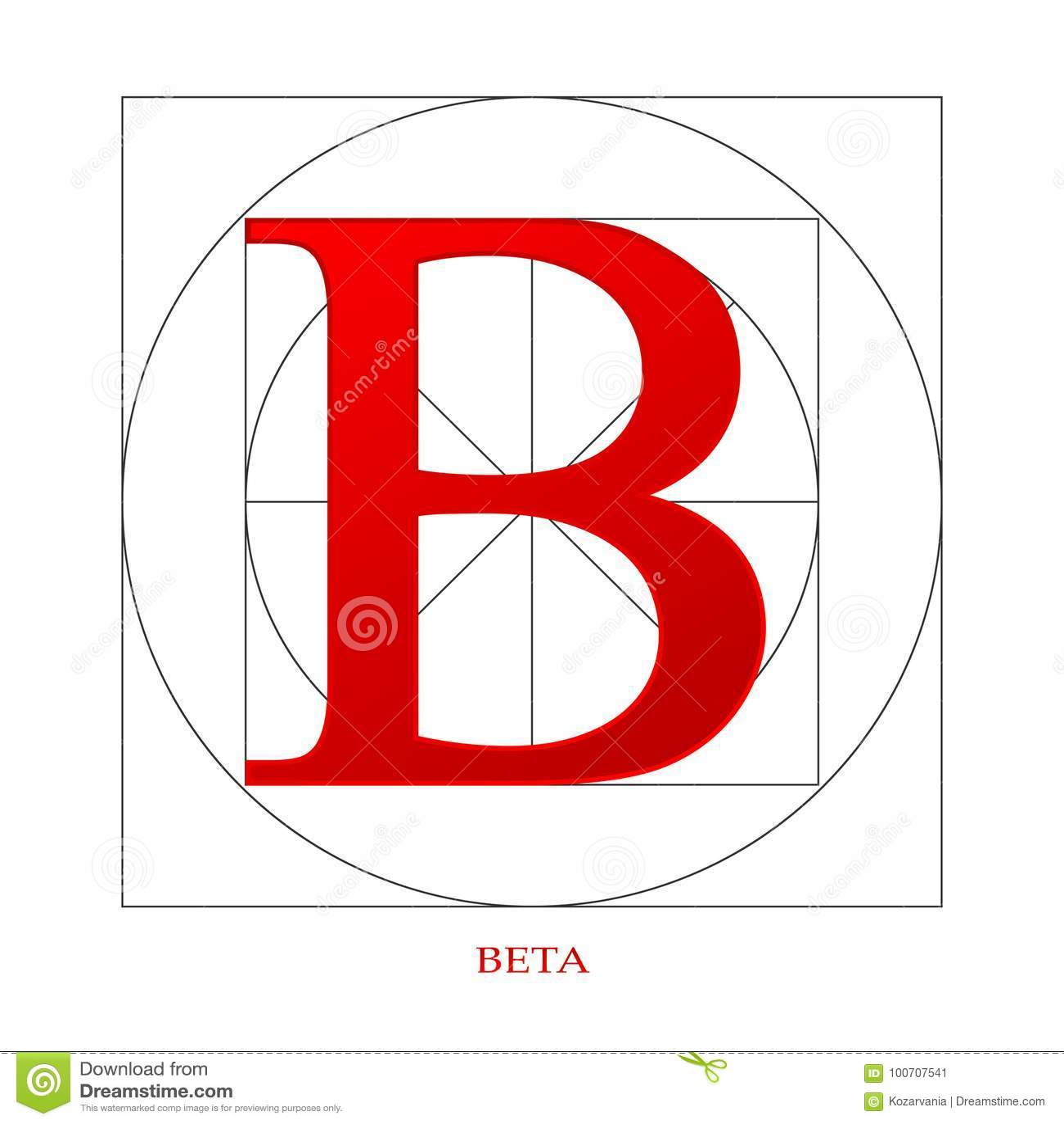 Beta Industry Symbol Stock Vector Illustration Of Element 100707541