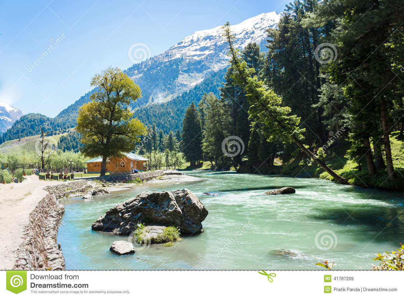Betaab valley, Lidder river, beautiful Kashmir