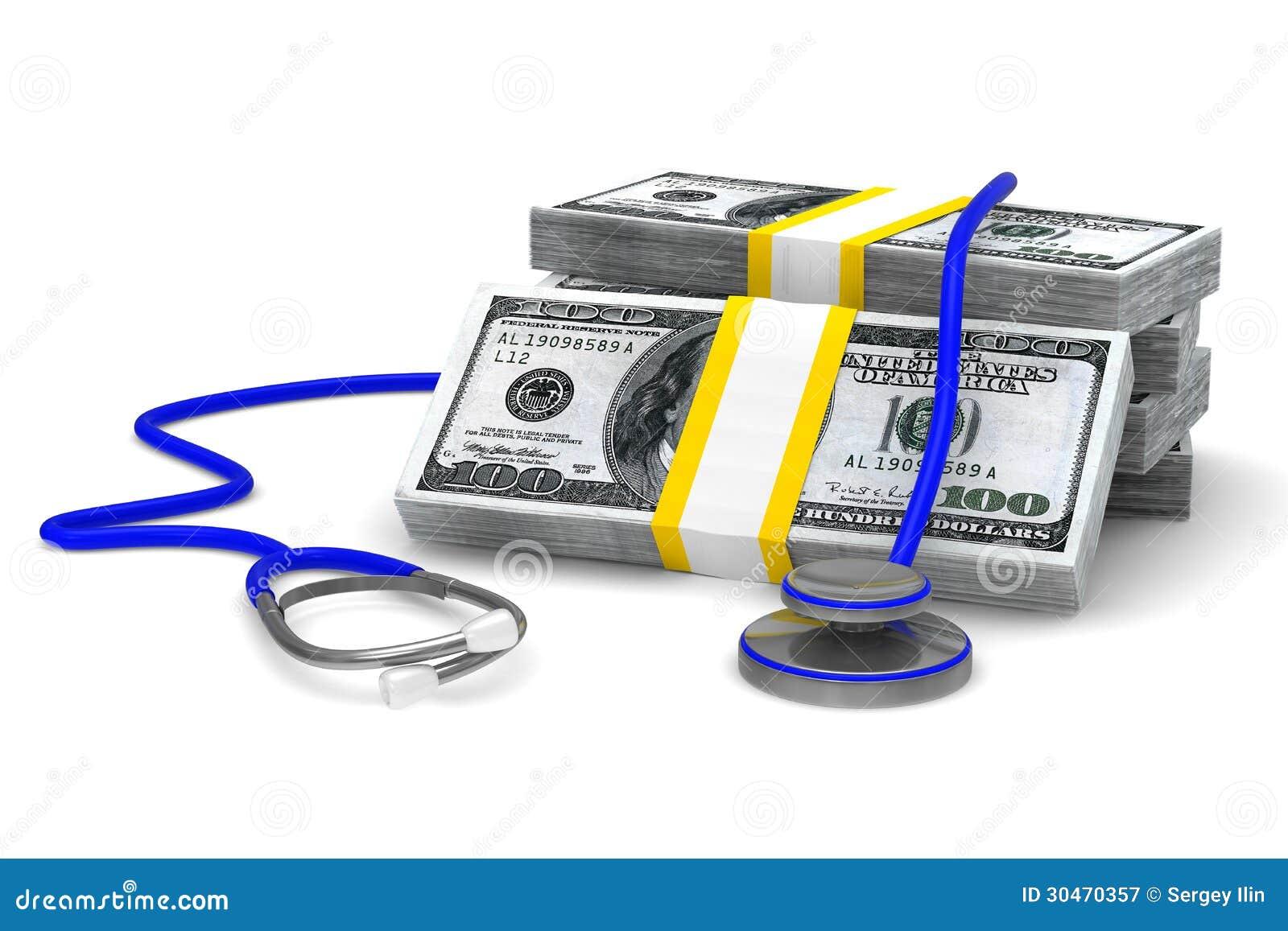Betald medicin på vit bakgrund