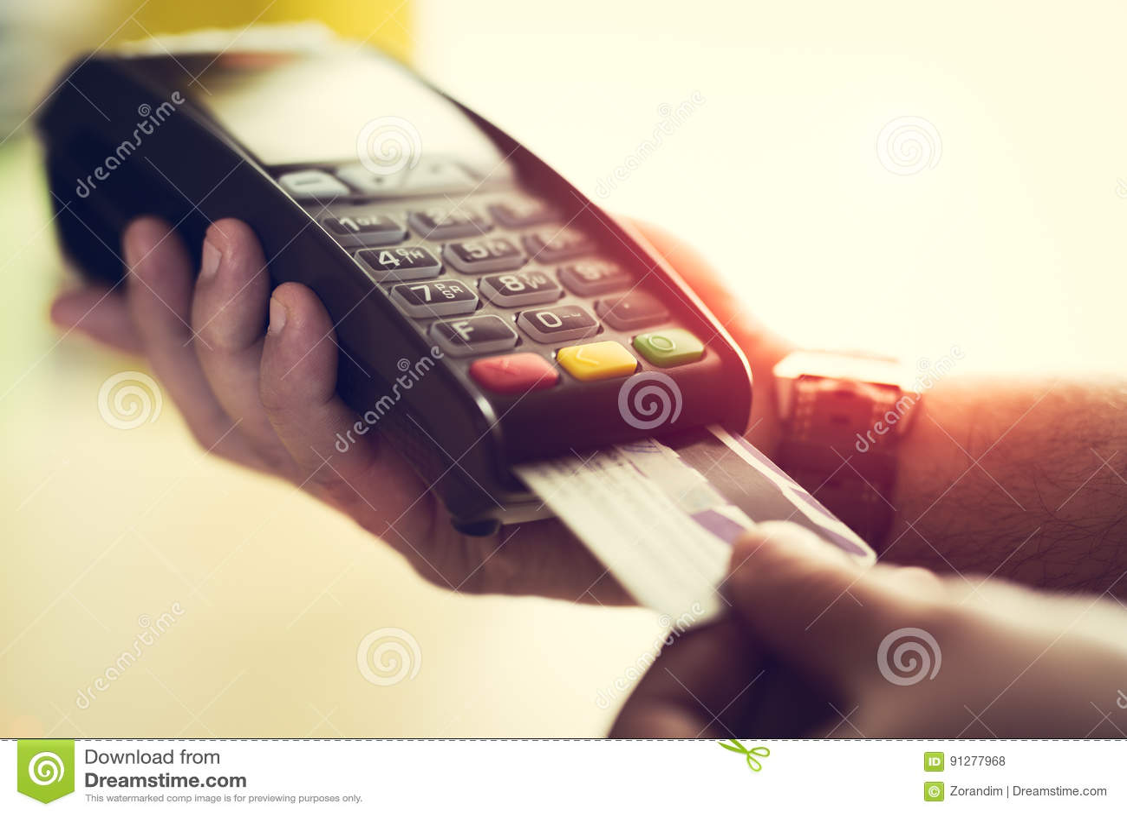 Betalning för mandanandekreditkort