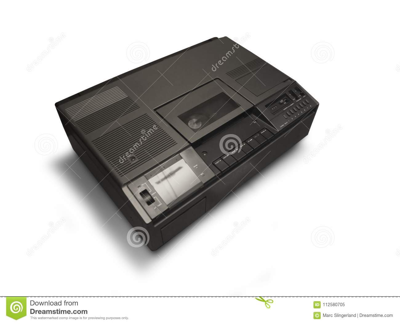Betamax video recorder from the seventie