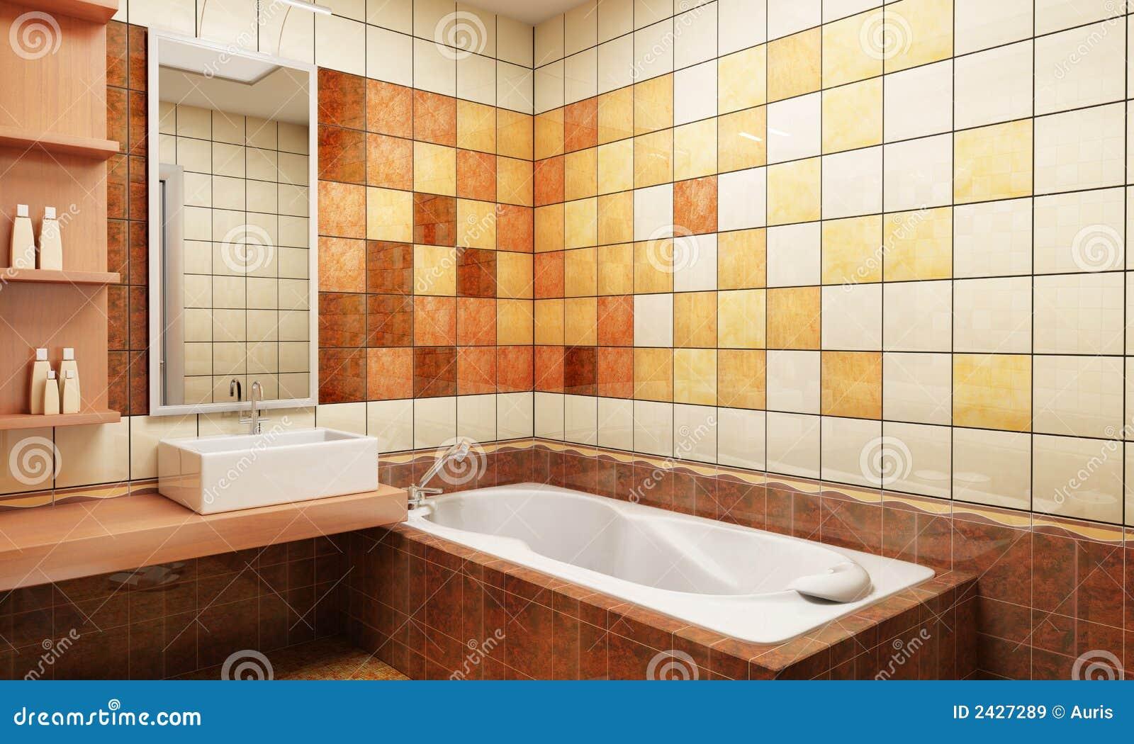 Betegeld ontwerp van de badkamers stock afbeelding afbeelding 2427289 - Badkamer meubilair ontwerp ...