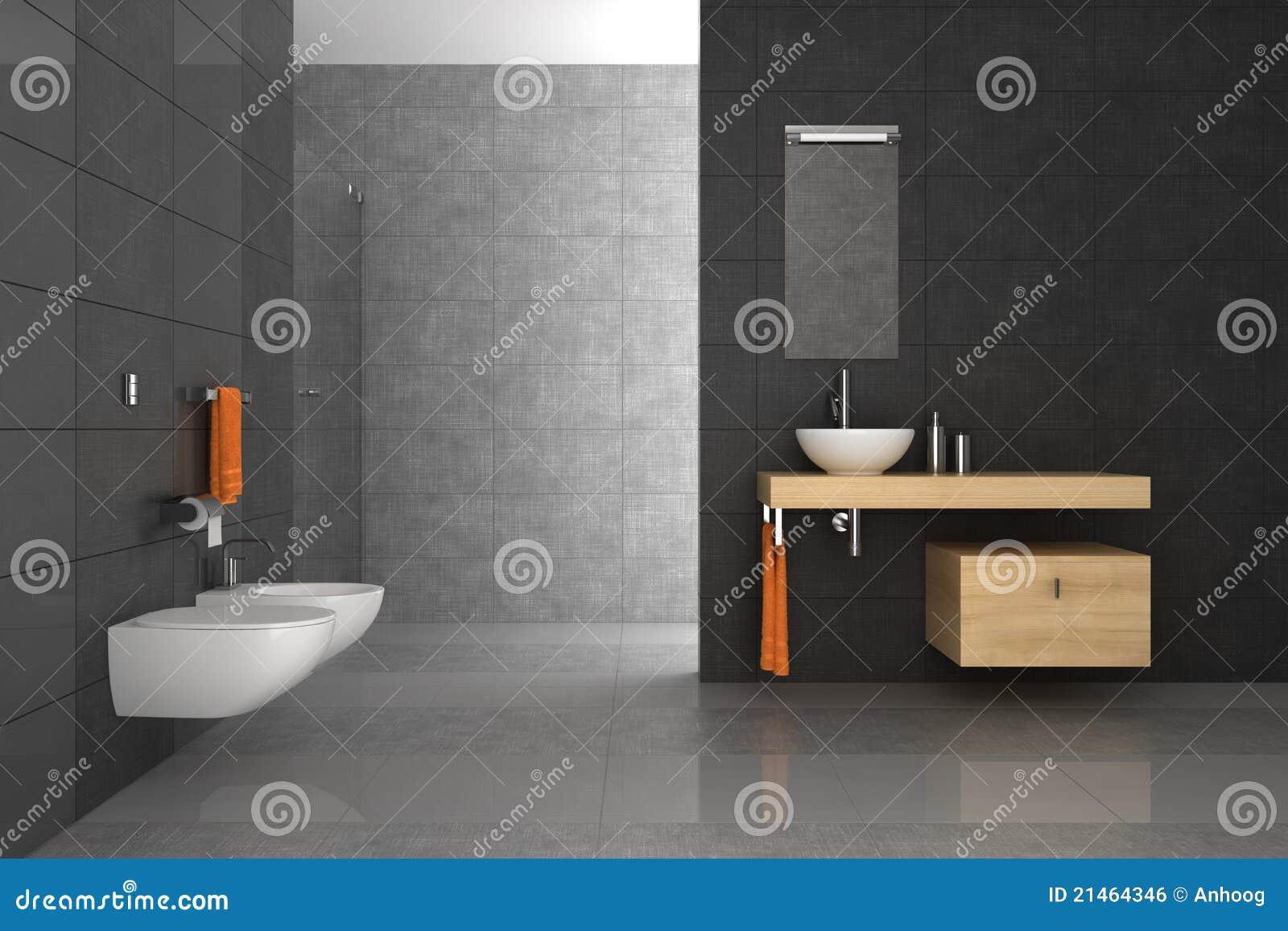 Betegelde badkamers met houten meubilair royalty vrije stock afbeelding afbeelding 21464346 - Betegelde badkamer ontwerp ...