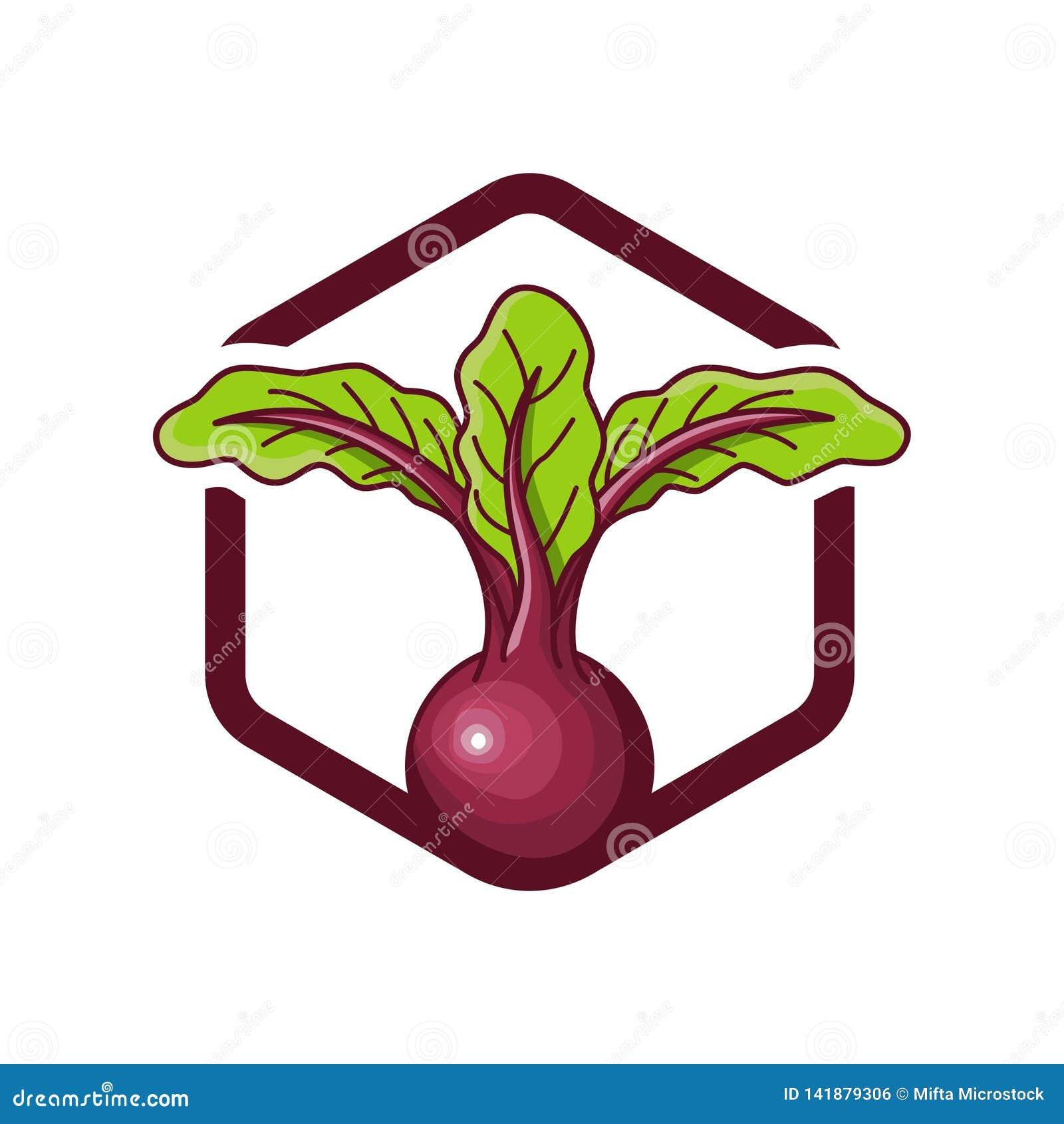 Beterrabas do projeto do logotipo