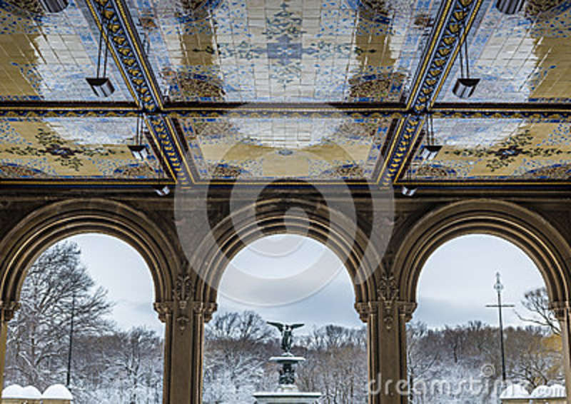 Bethesda Terrace In Central Park Stock Photo Image Of