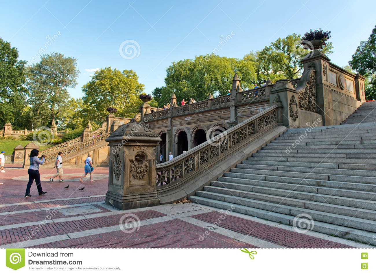 Editorial Stock Photo. Download Bethesda Terrace Grand Staircase ...