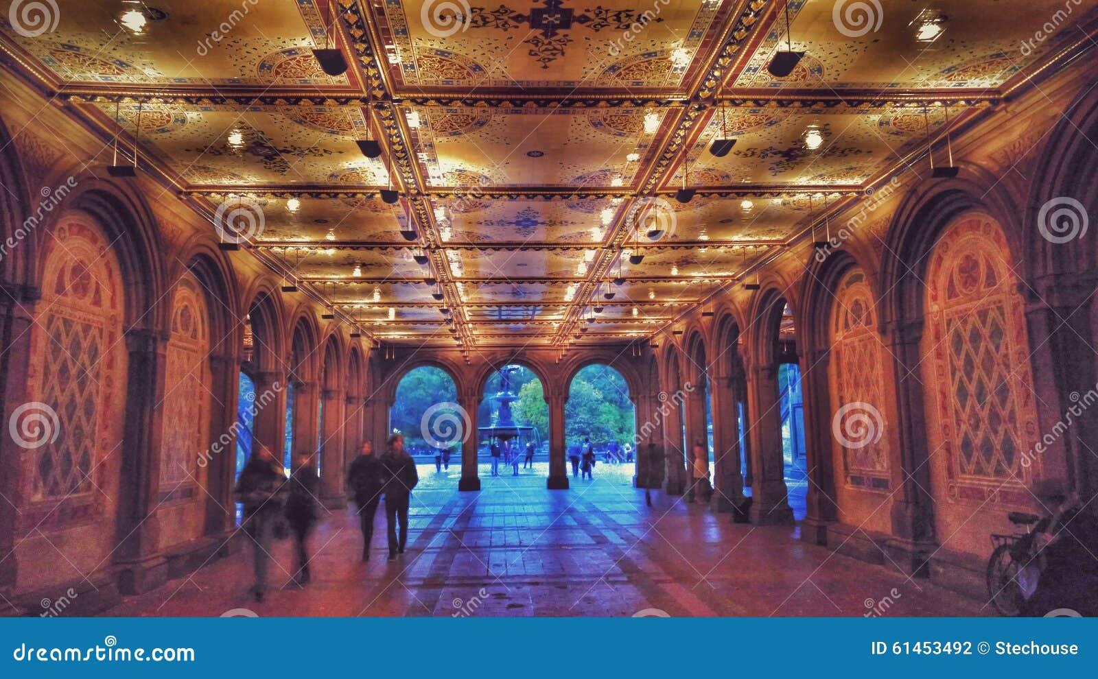 Bethesda Terrace und Brunnen im Central Park New York City