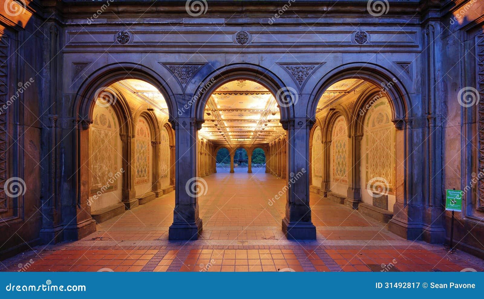... pedestrian underpass at Bethesda Terrace, Central Park, New York City