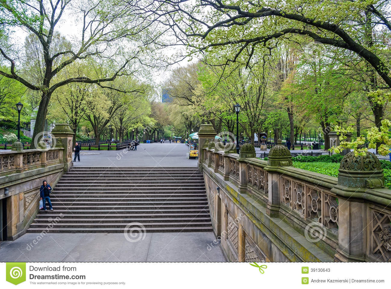 Bethesda Terrace View Editorial Stock Photo - Image: 39130643