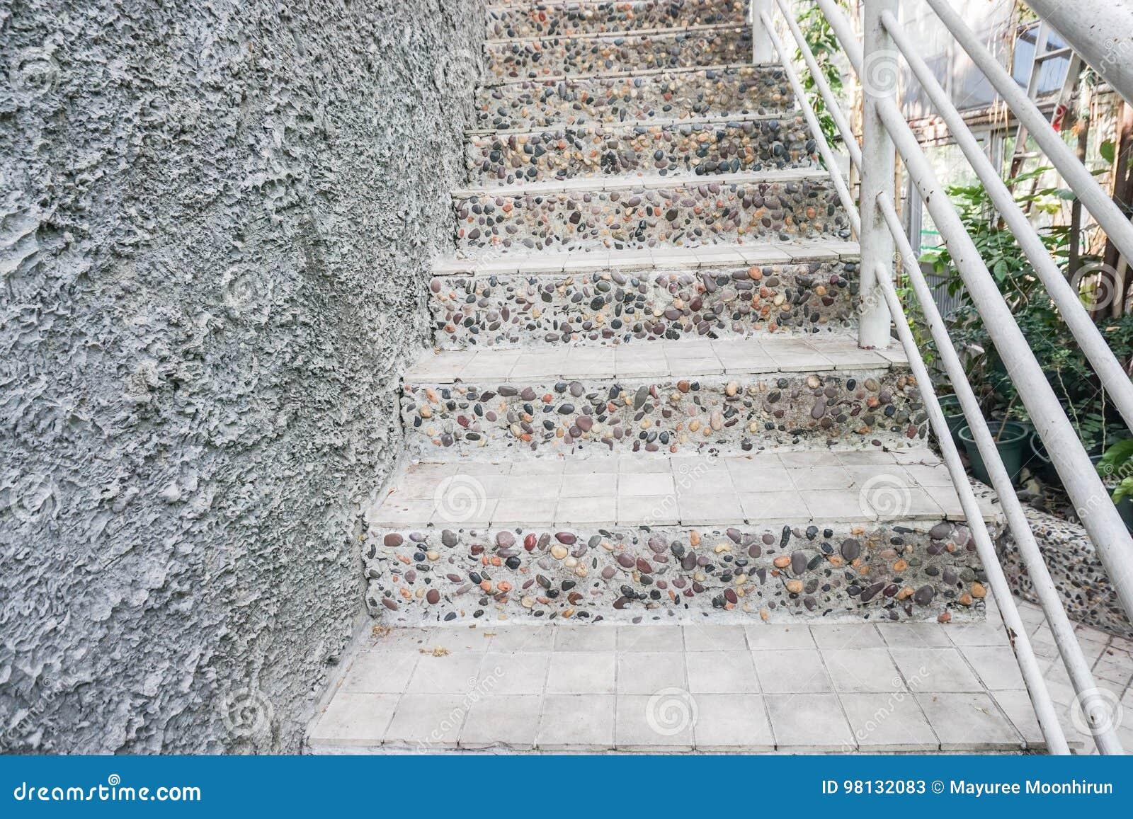 Extrem Beton Mit Treppenhaus Der Steine Im Freien Stockbild - Bild von LP86