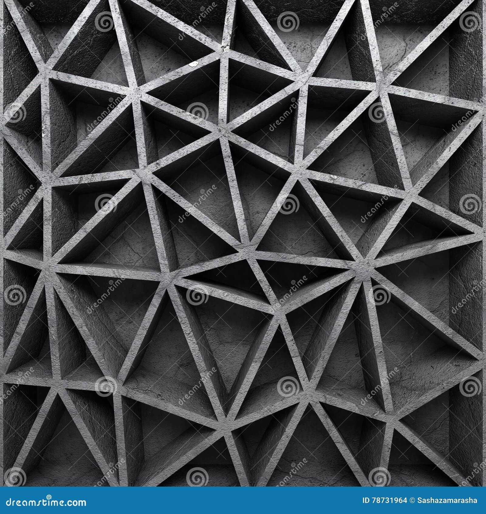 Betong texturerad bakgrund för poligonmodellvägg