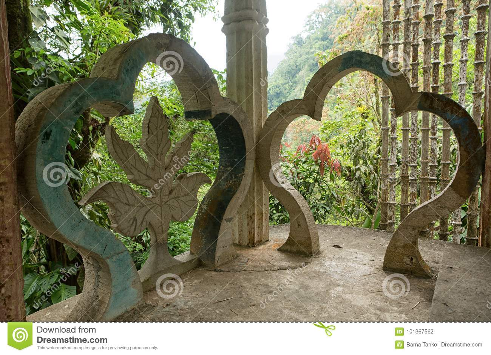 Betonkonstruktion bei Edward James arbeitet Xilitla Mexiko im Garten