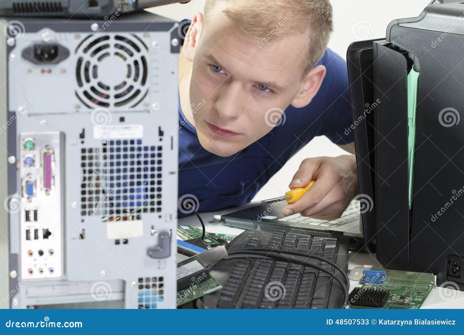 Betrachten des Computers