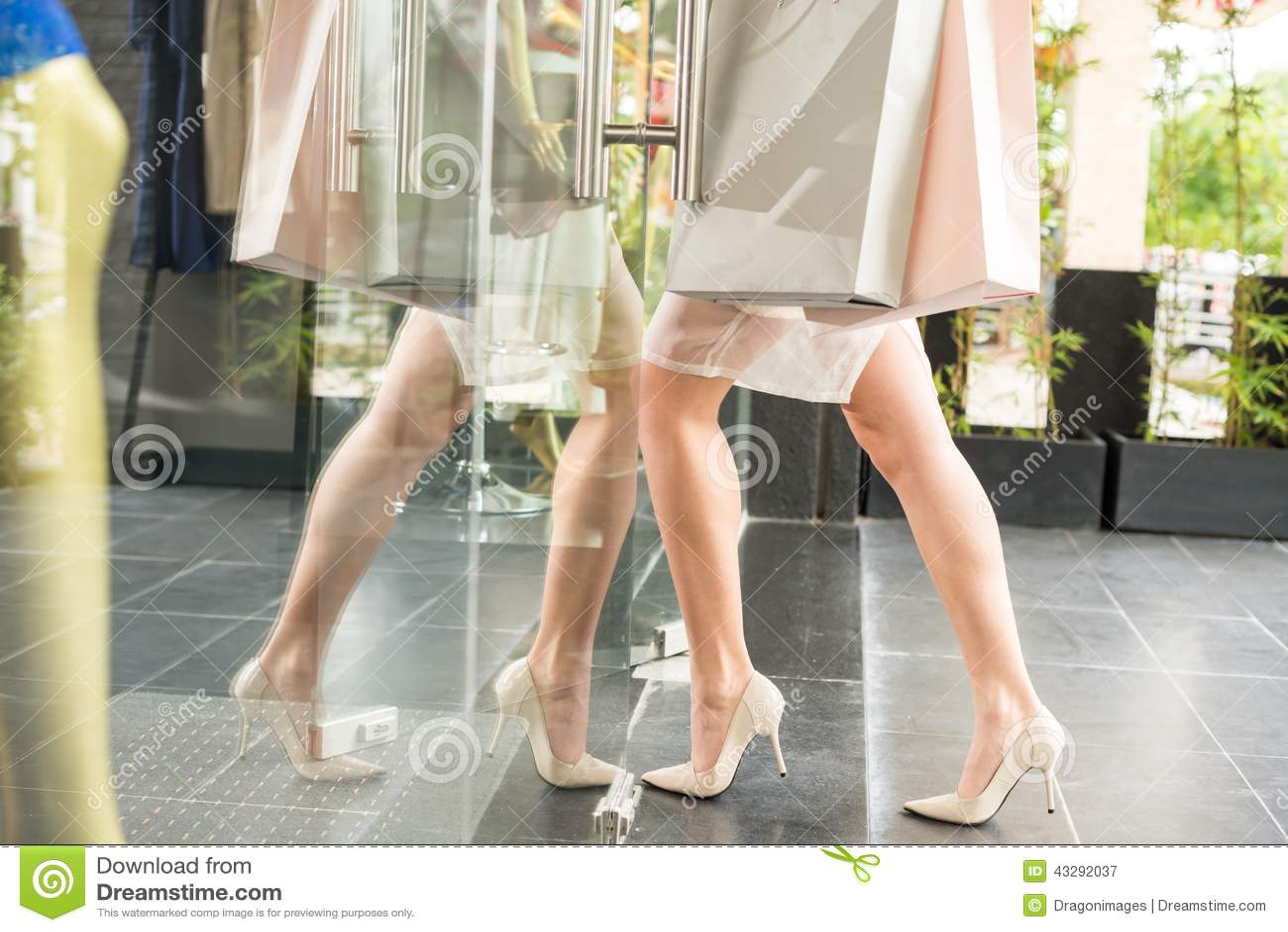 Betreten des Shops