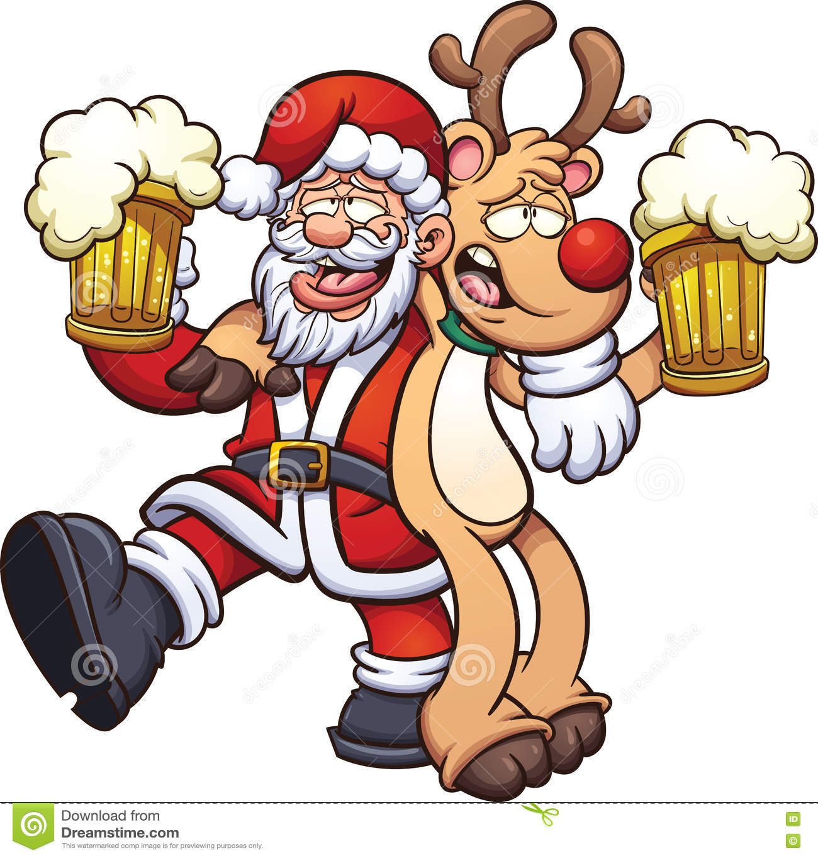betrunkener weihnachtsmann vektor abbildung illustration von singen 81498339 Drink Clip Art Drink Clip Art