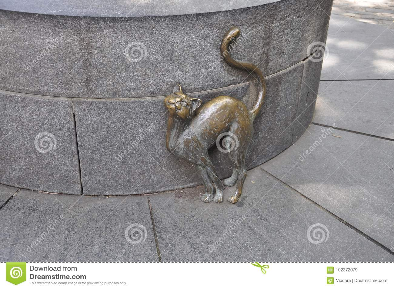Betsy Ross Cat Sculpture In The House Courtyard From ...