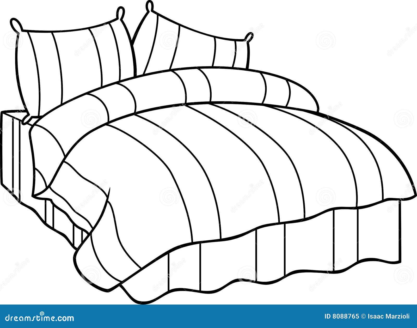 Bett Vektor Abbildung Illustration Von Abbildung Zeichnung 8088765