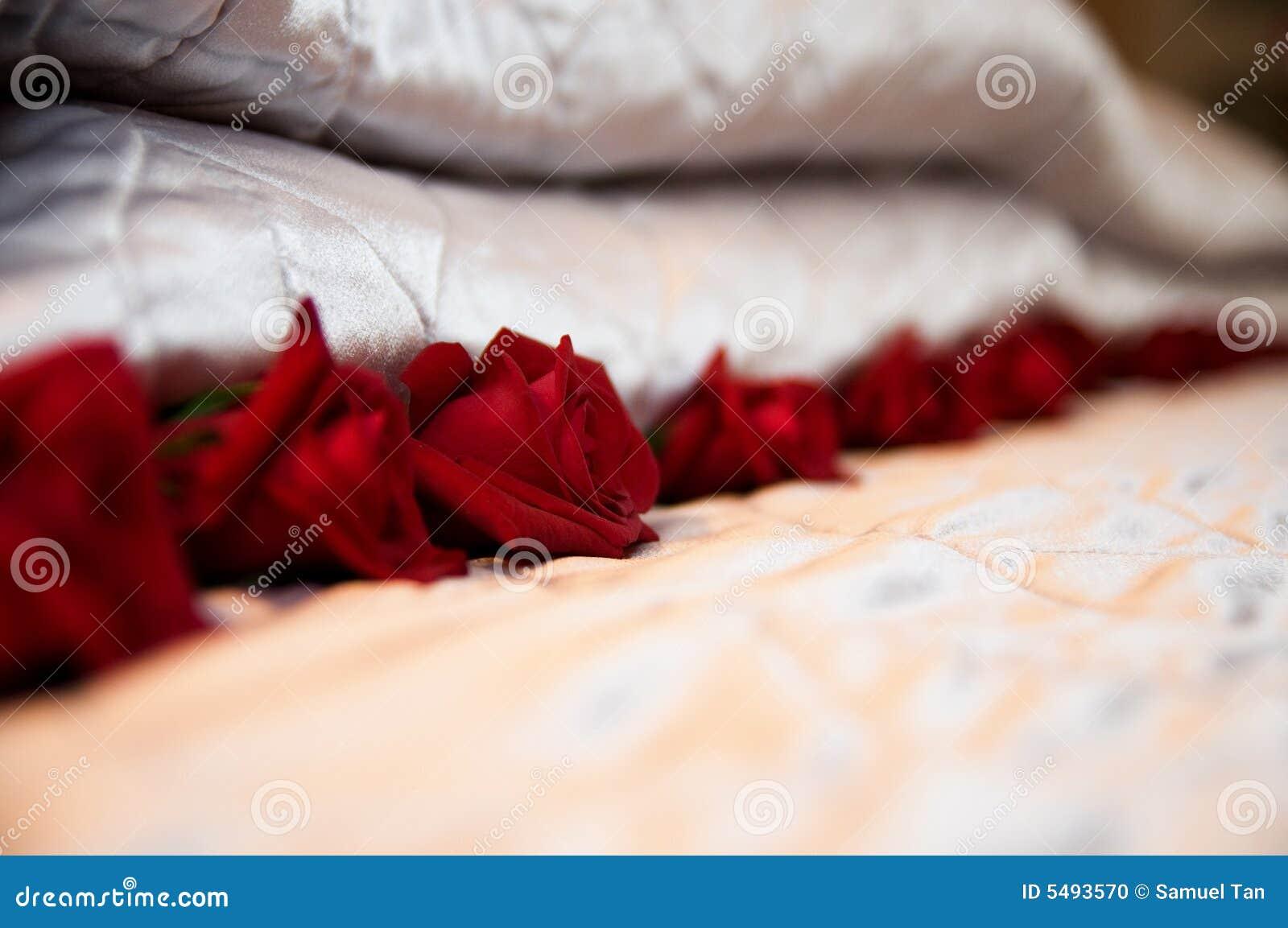 Download Bett Rosen Stockfoto. Bild Von Bett, Rosen, Recht, Blumen
