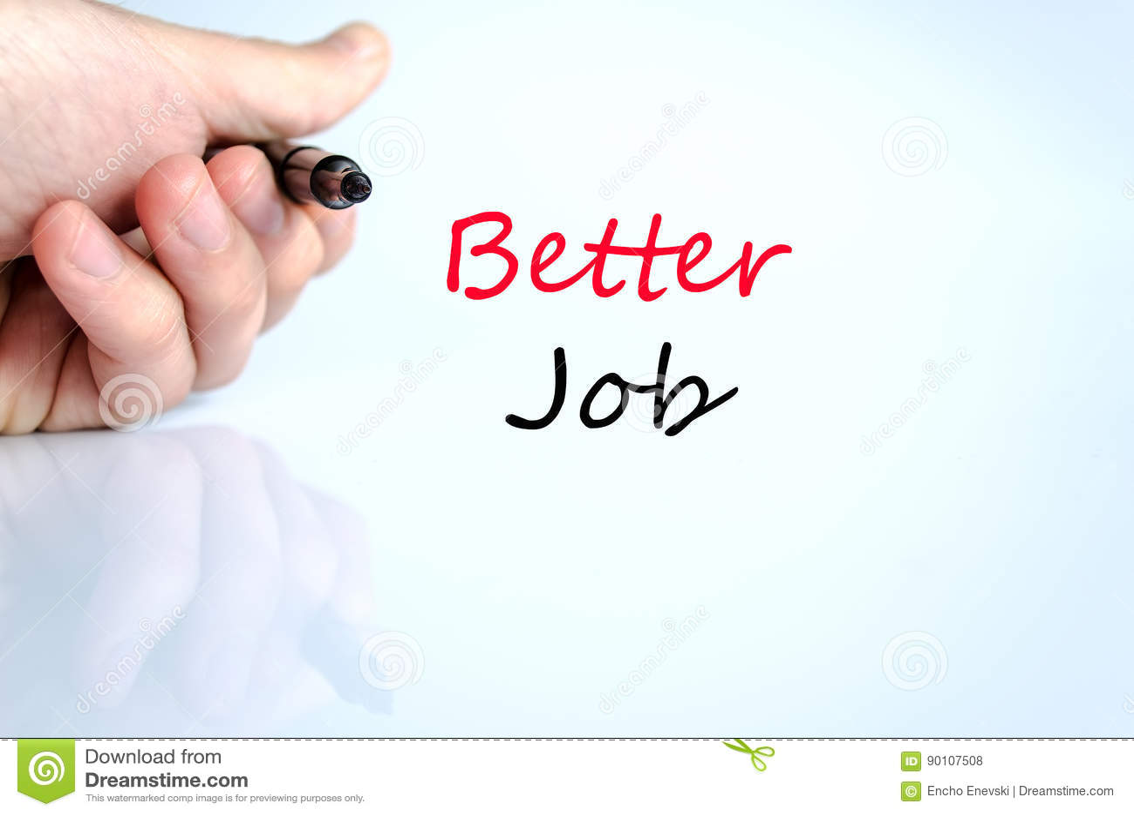 Better job text concept