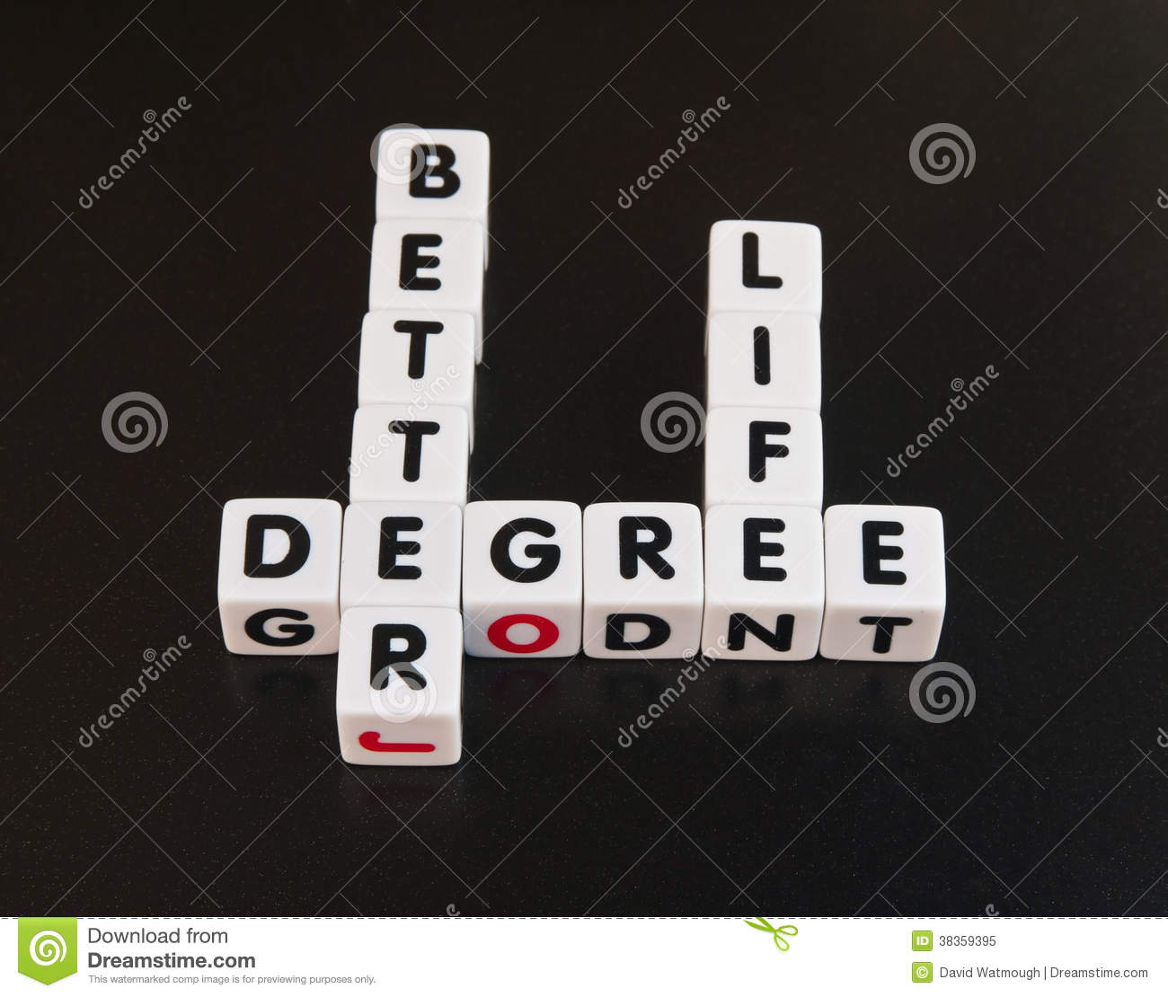 Better Life With A Degree Royalty Free Stock Photo Image