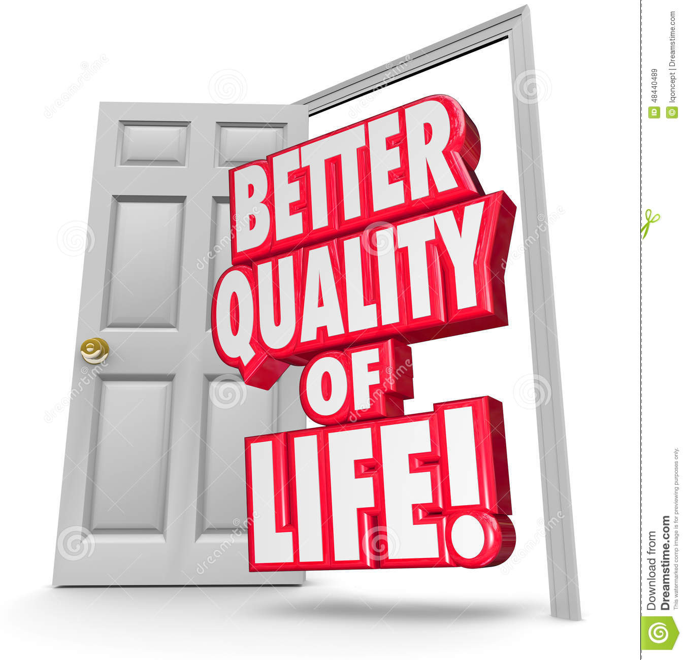 better quality of life improve situation open door stock  better quality of life improve situation open door