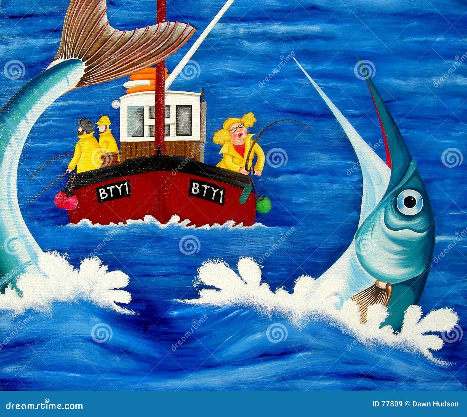Betty połowów do morza