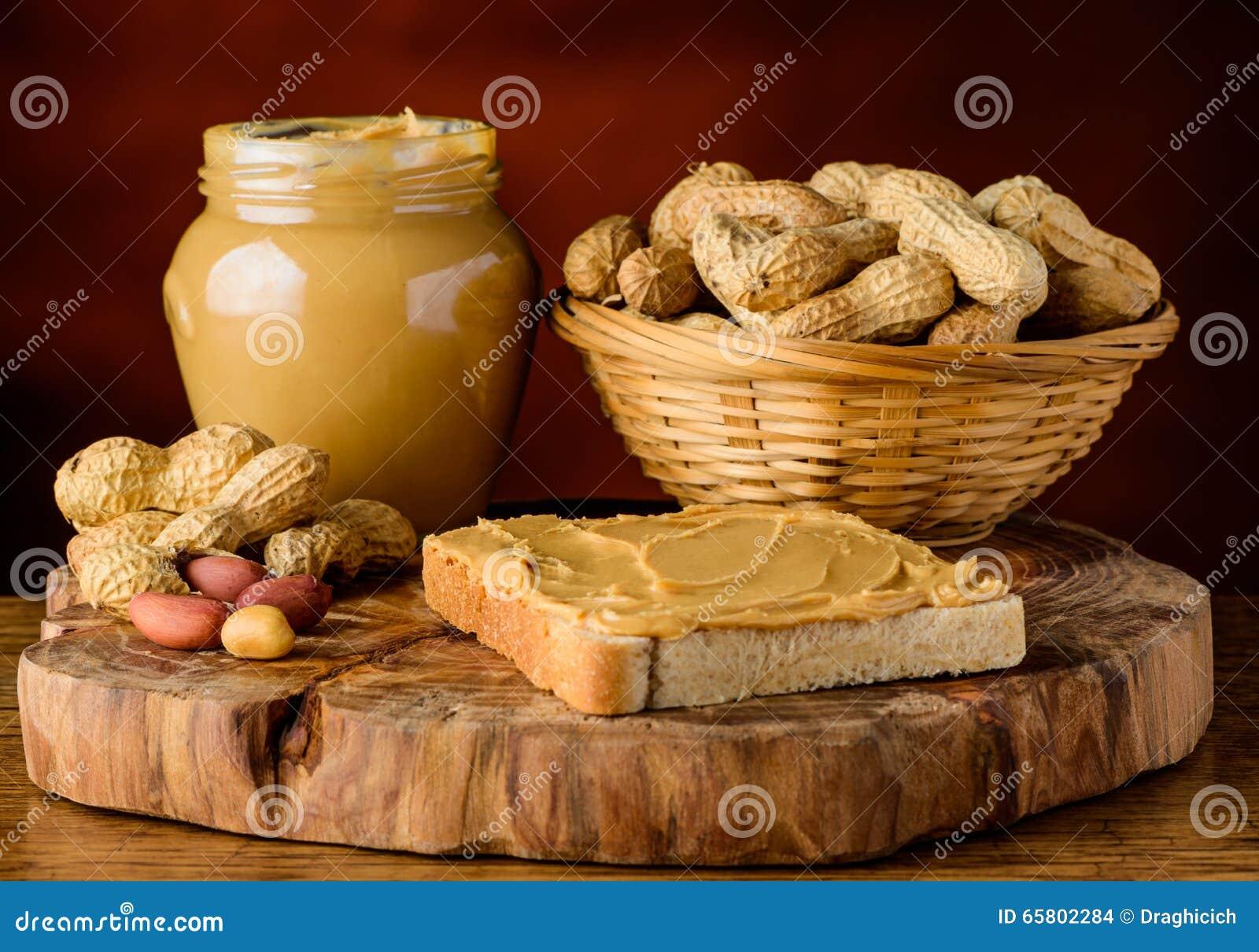 beurre et arachides d'arachide photo stock - image du beurre, pain