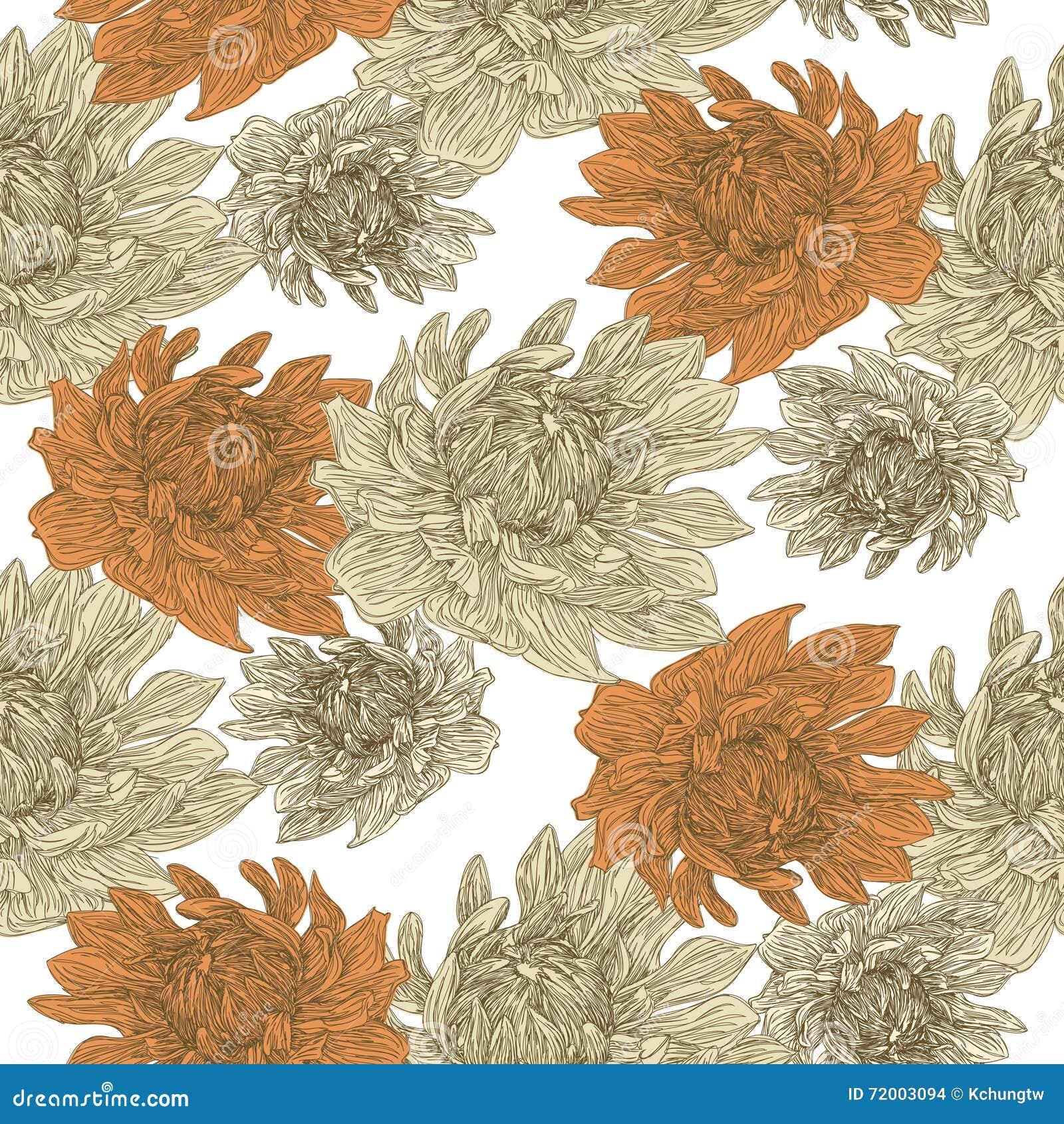 Bevallig bloemen naadloos patroon