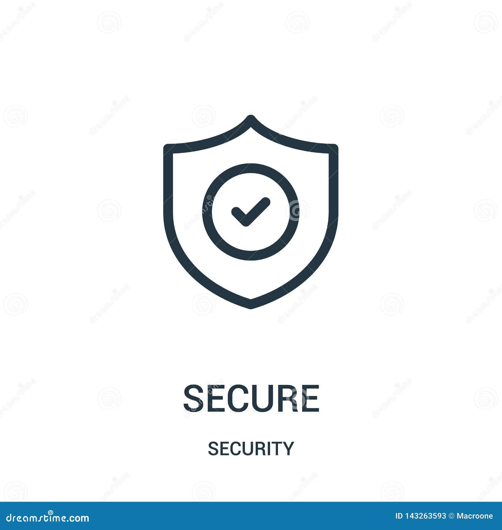 Beveilig pictogramvector van veiligheidsinzameling Dunne het pictogram vectorillustratie van het lijn veilige overzicht