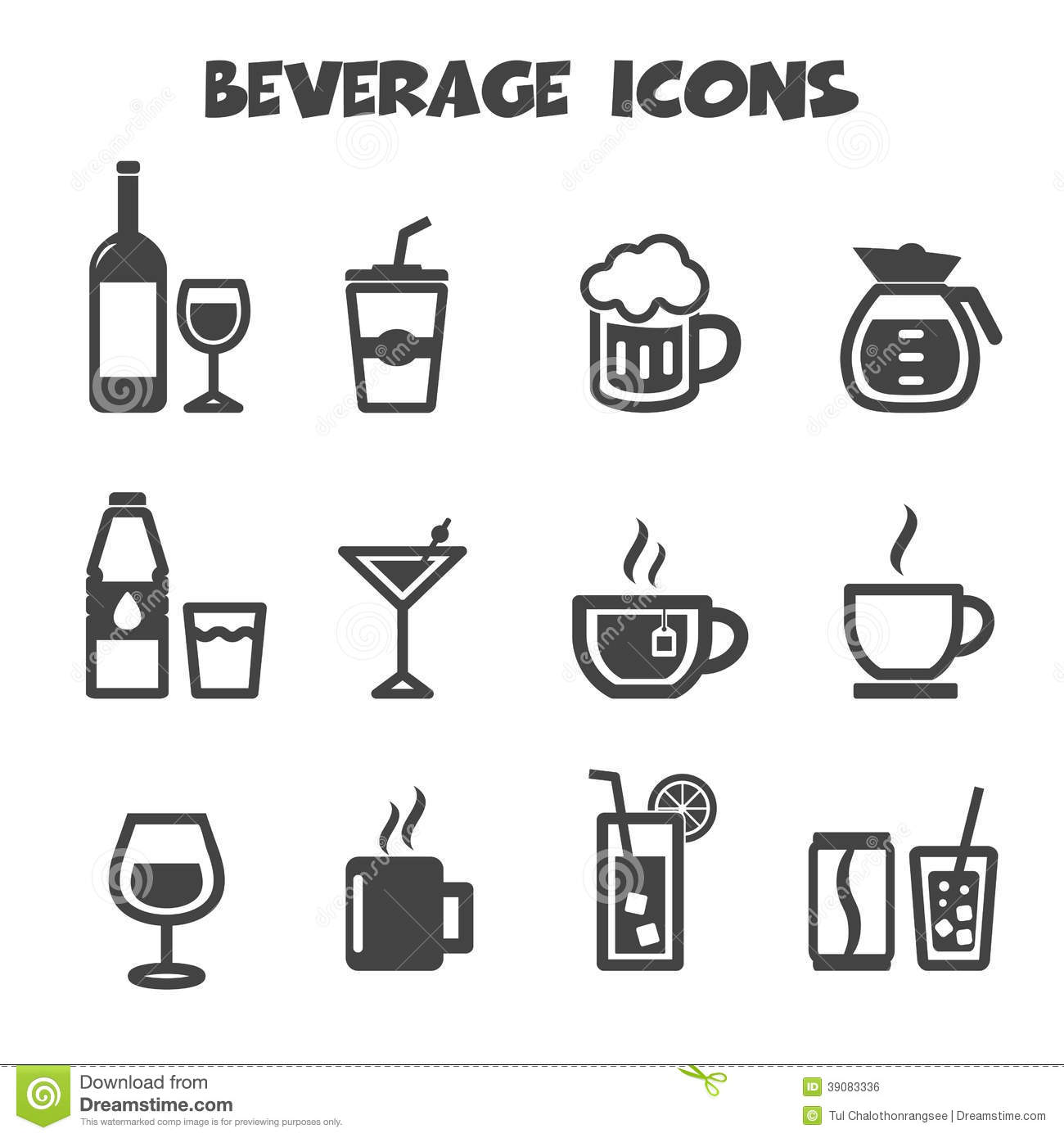 Royalty Free Stock Image Beverage Icons Mono Vector Symbols Image39083336 on cup of juice clip art