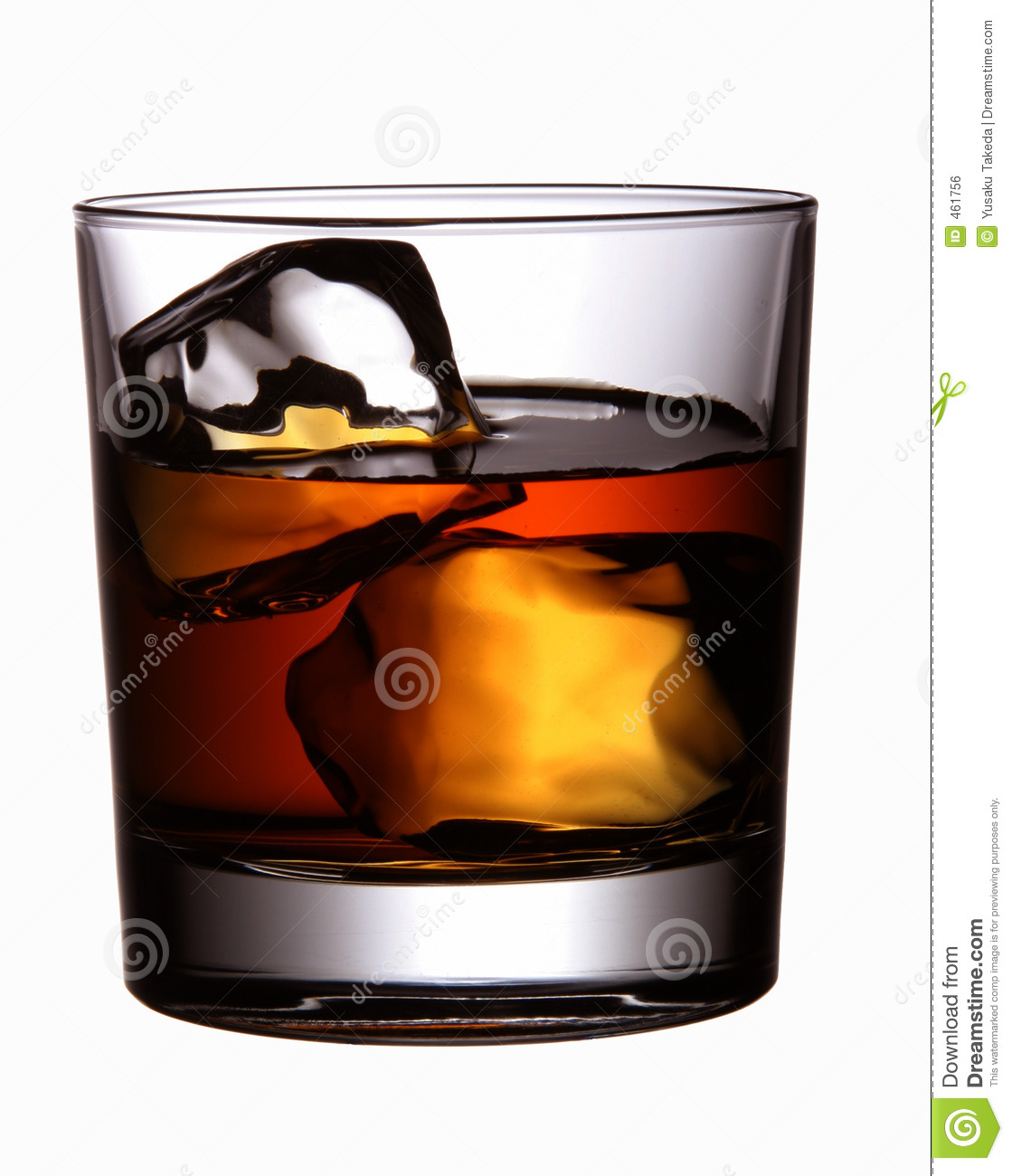 Download Beverage (Whisky) stock photo. Image of over, drink, cubes - 461756