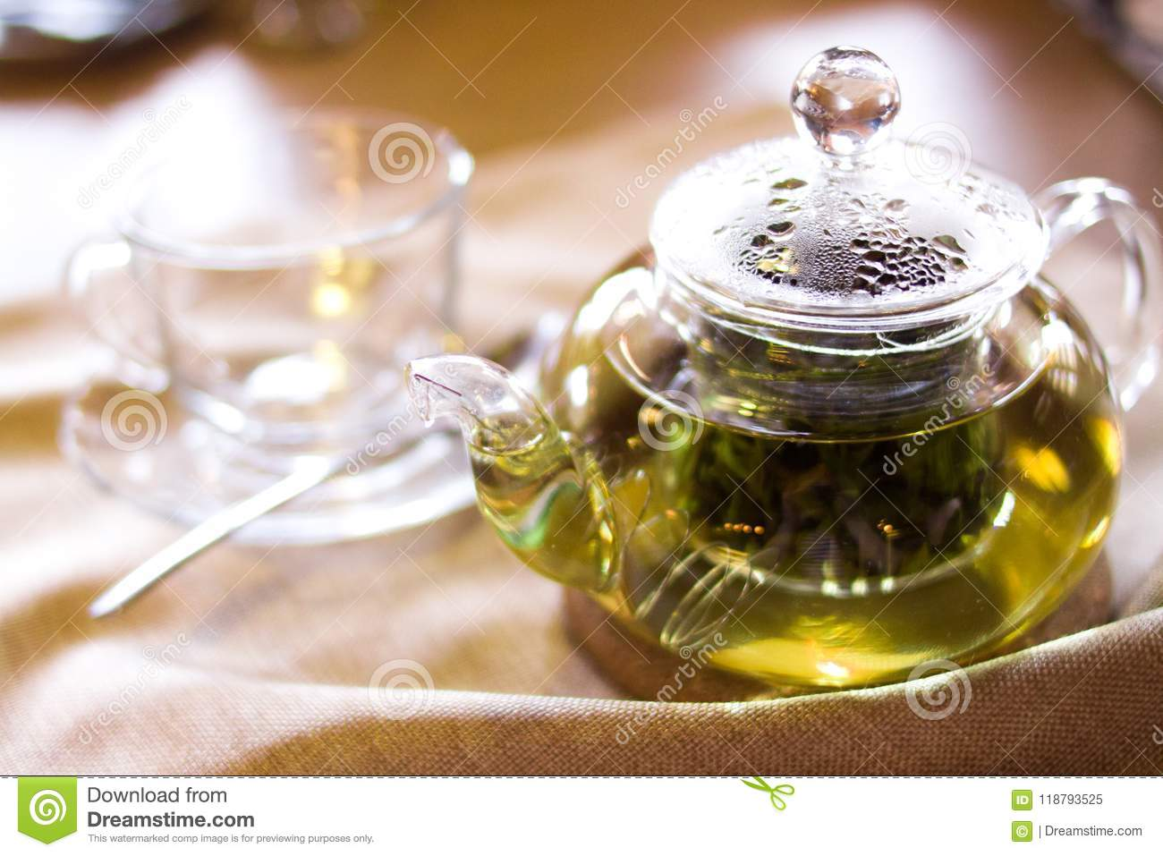 Beverages Good Morning And Breakfast Concept Empty Tea Cup And