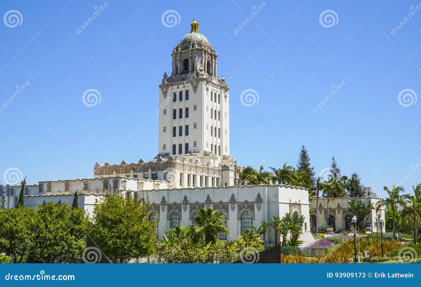 Beverly Hills City Hall i Los Angeles - LOS ANGELES - KALIFORNIEN - APRIL 20, 2017