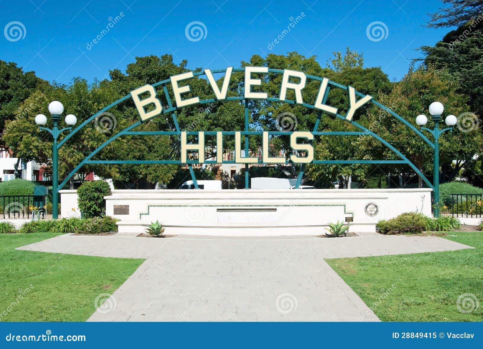 Beverly Hills firma adentro el parque de Los Ángeles