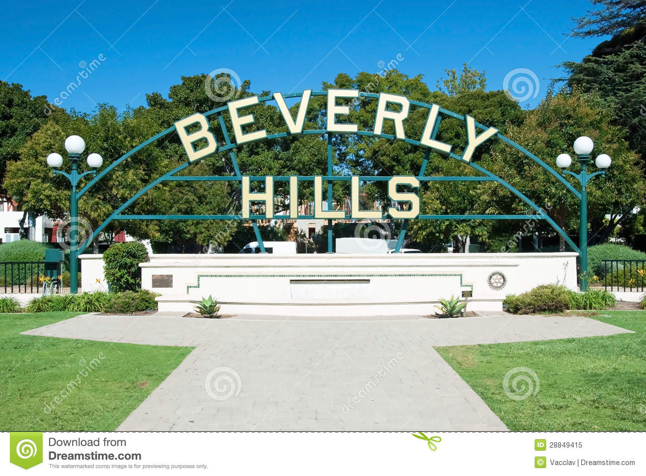 Beverly Hills kennzeichnen herein Los Angeles-Park