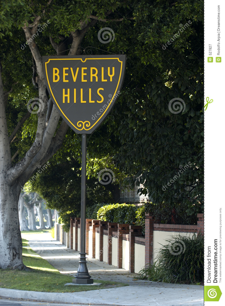 Beverly Hills Sign Royalty Free Stock Photography Image