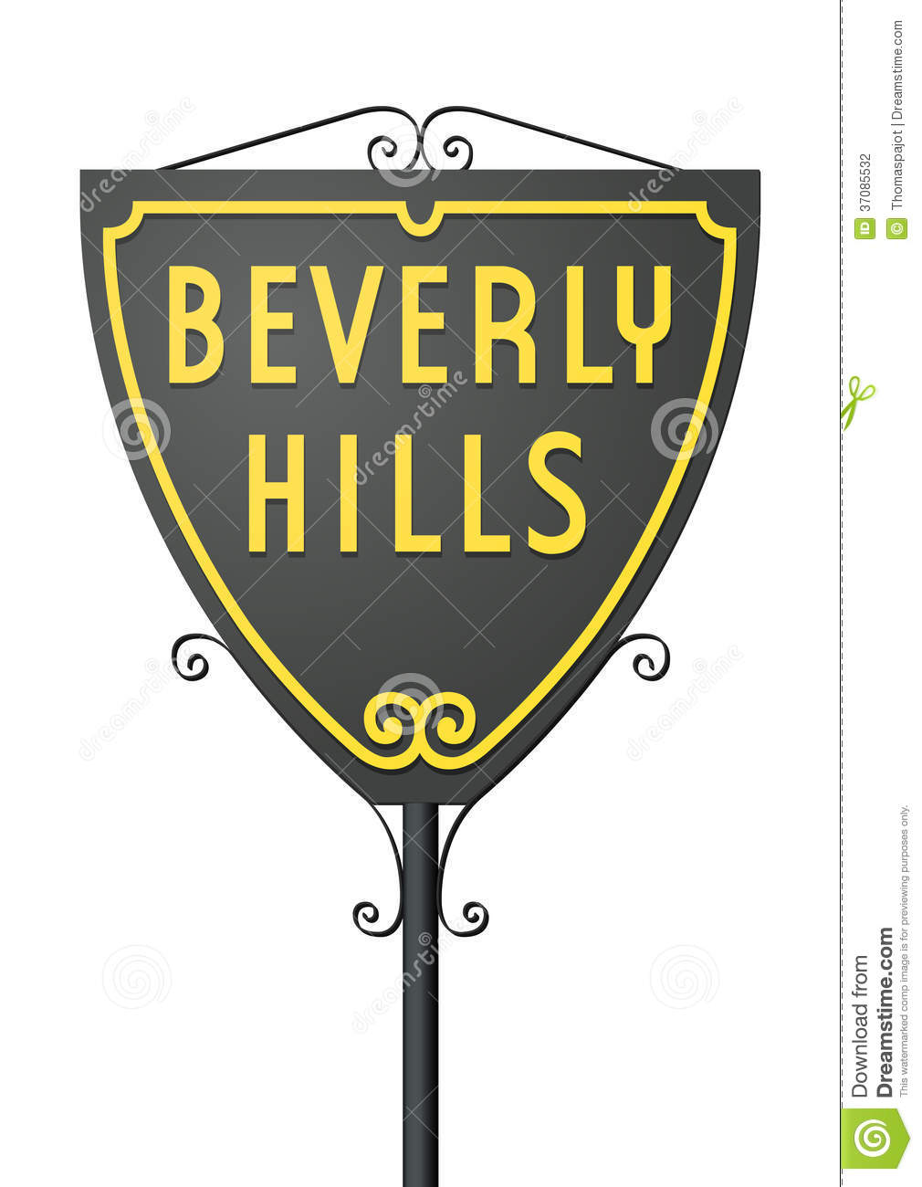 Beverly Hills Sign Stock Photography Image 37085532