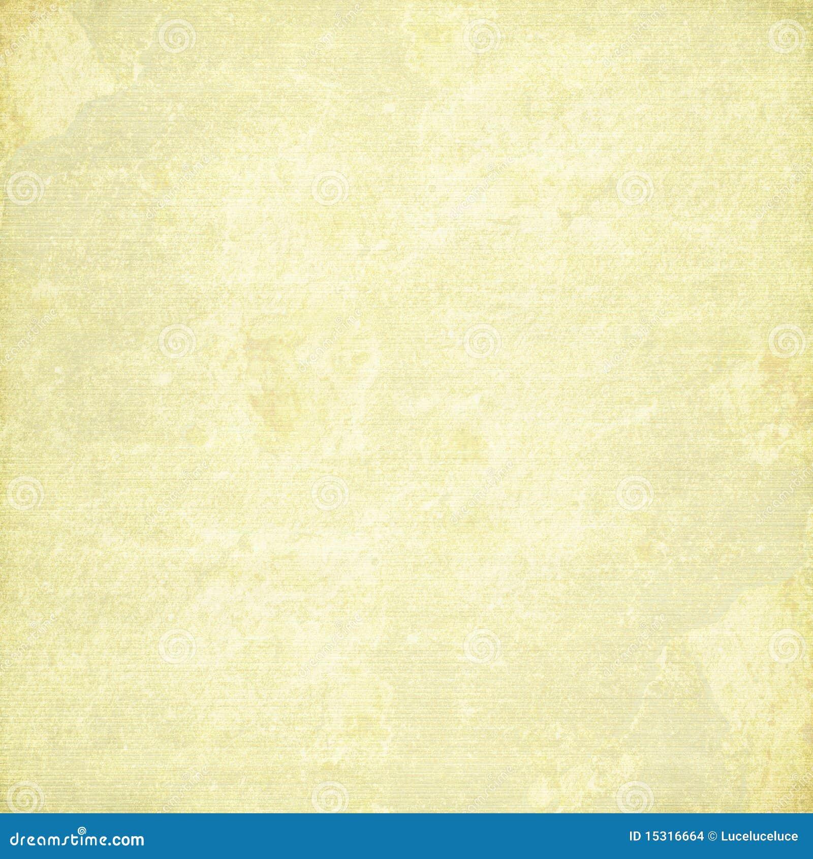 Bevlekt en geel geribbeld canvas met gebrand frame