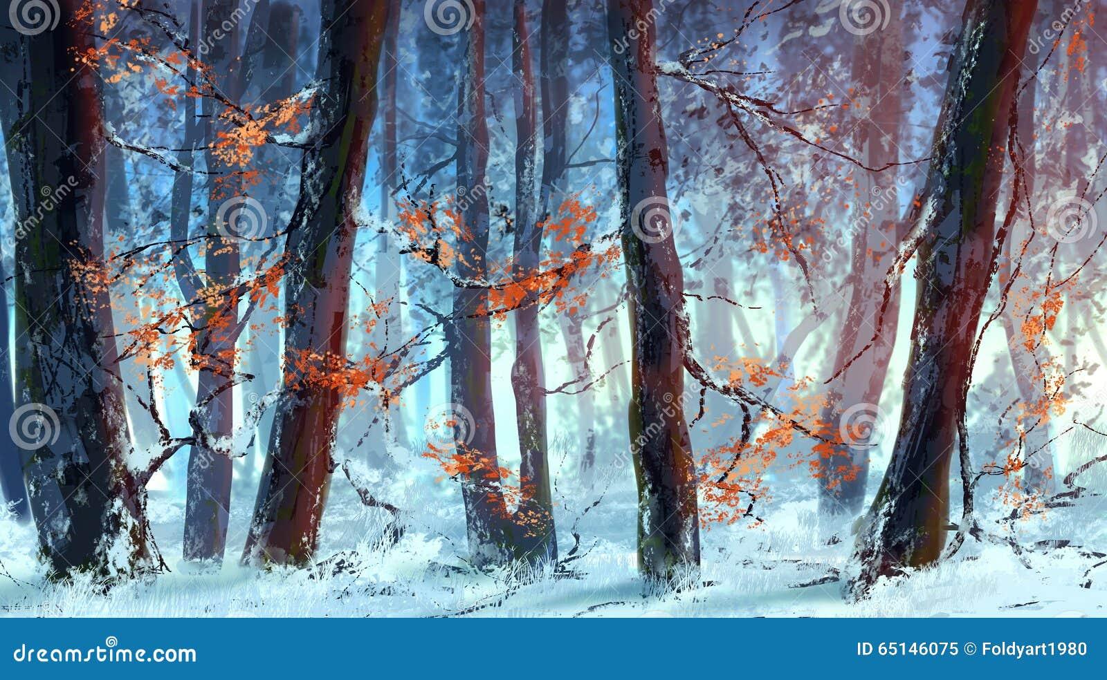 Bevroren bos
