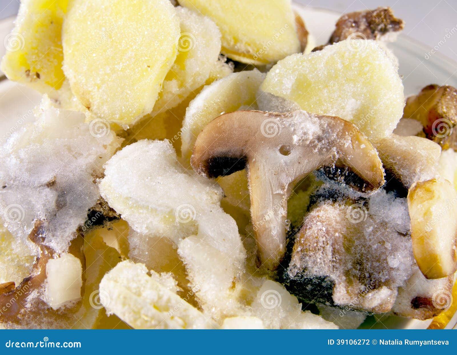 Bevroren mushhrooms mengeling