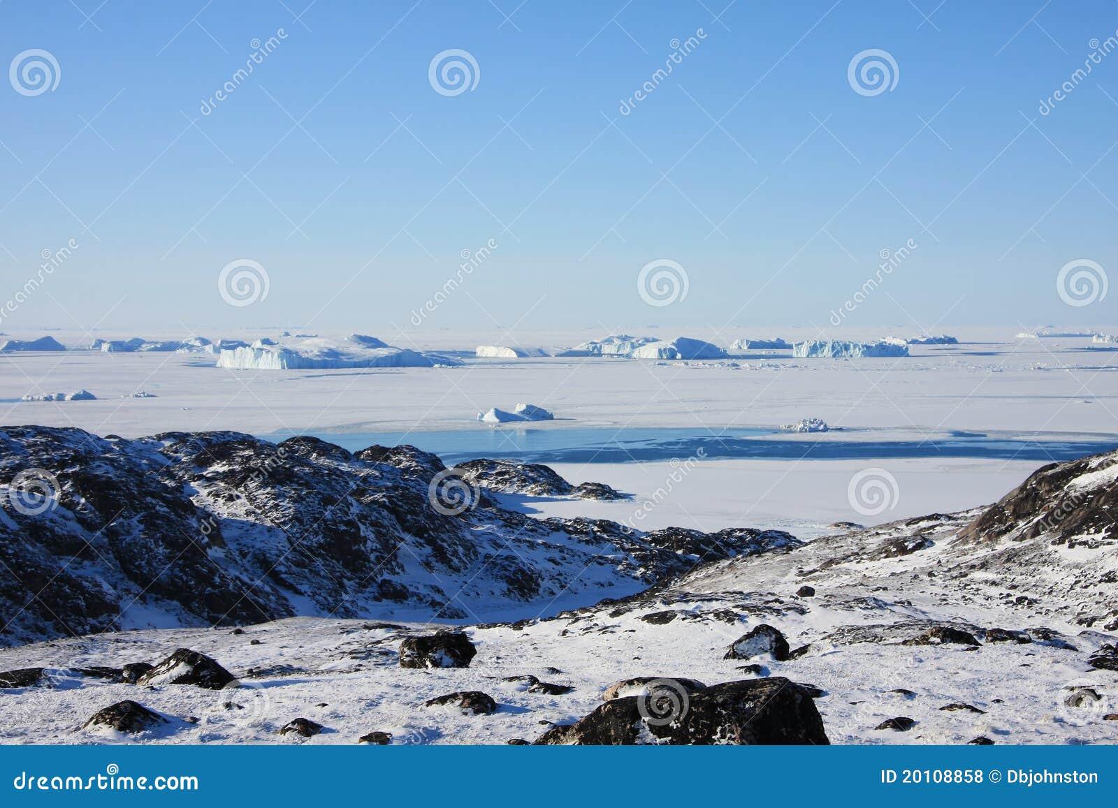 Bevroren Overzees en NoordpoolToendra, Groenland