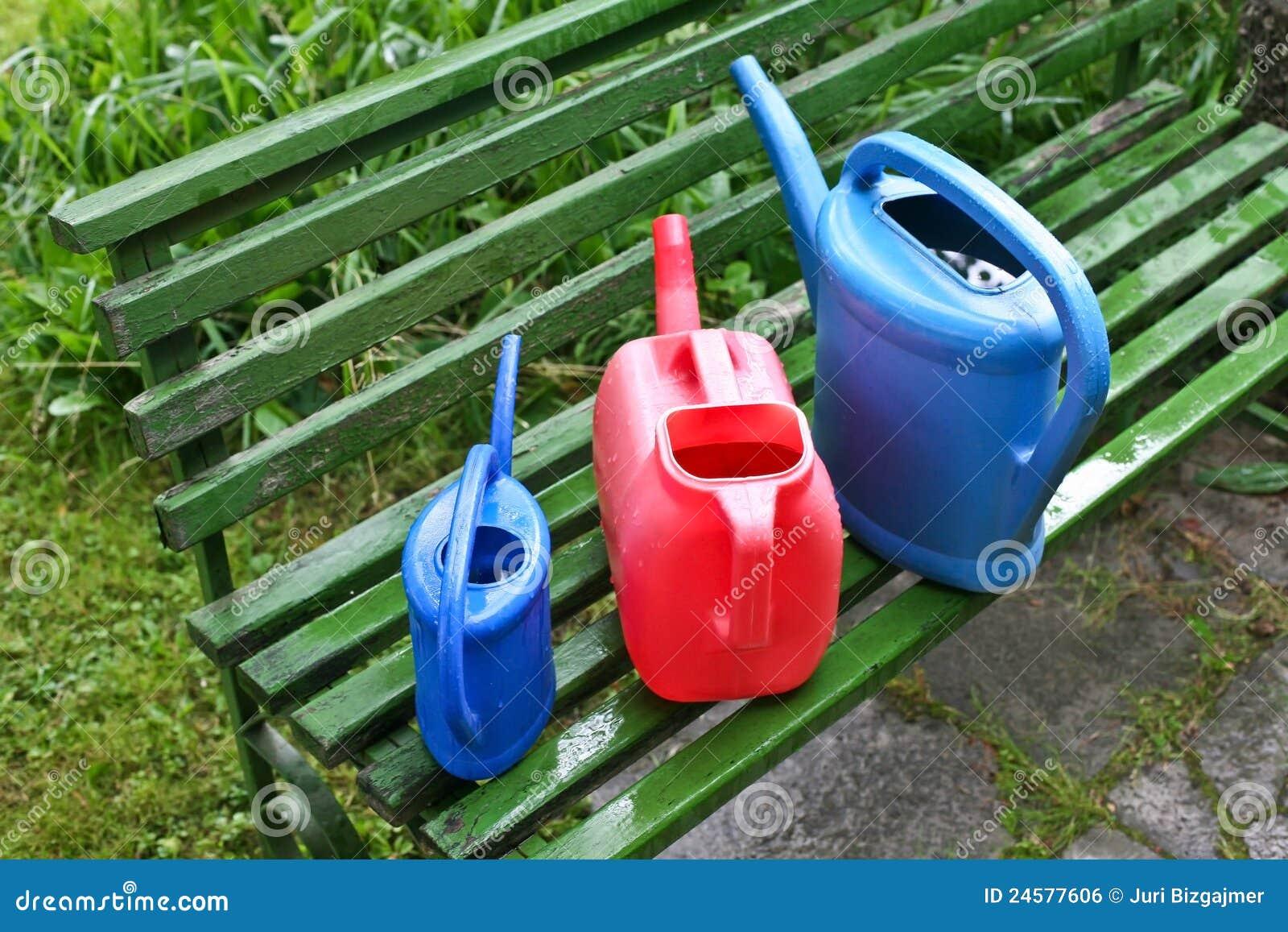 Bewässerungsdosen im Garten